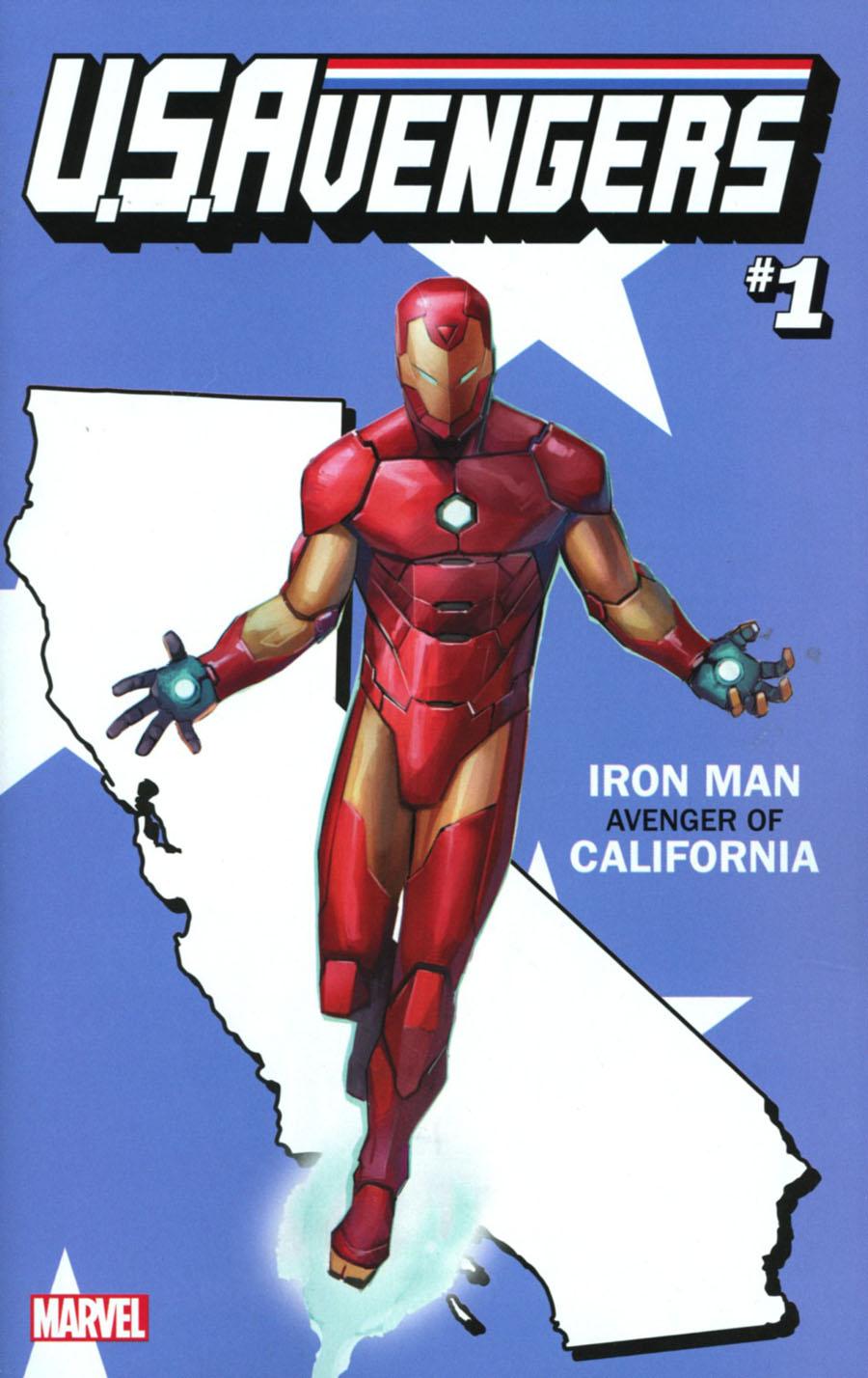U.S.Avengers #1 Cover K Variant Rod Reis California State Cover (Marvel Now Tie-In)