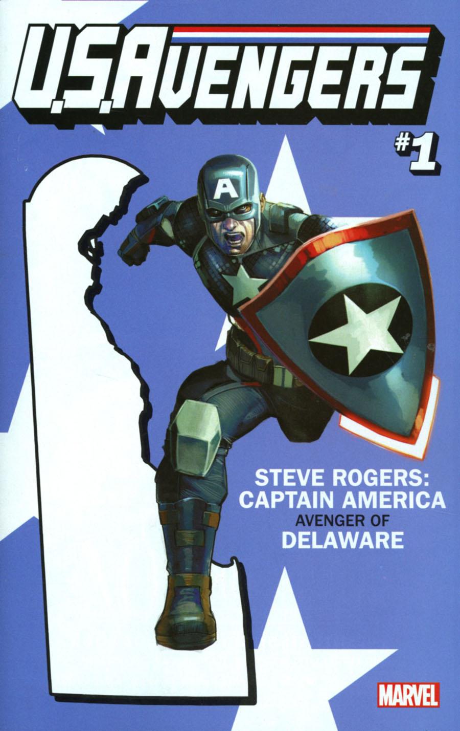 U.S.Avengers #1 Cover O Variant Rod Reis Delaware State Cover (Marvel Now Tie-In)