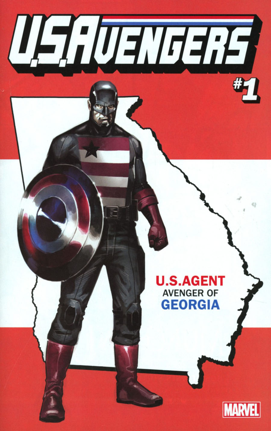 U.S.Avengers #1 Cover Q Variant Rod Reis Georgia State Cover (Marvel Now Tie-In)