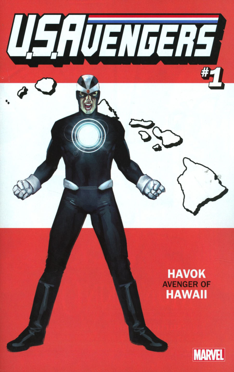 U.S.Avengers #1 Cover R Variant Rod Reis Hawaii State Cover (Marvel Now Tie-In)