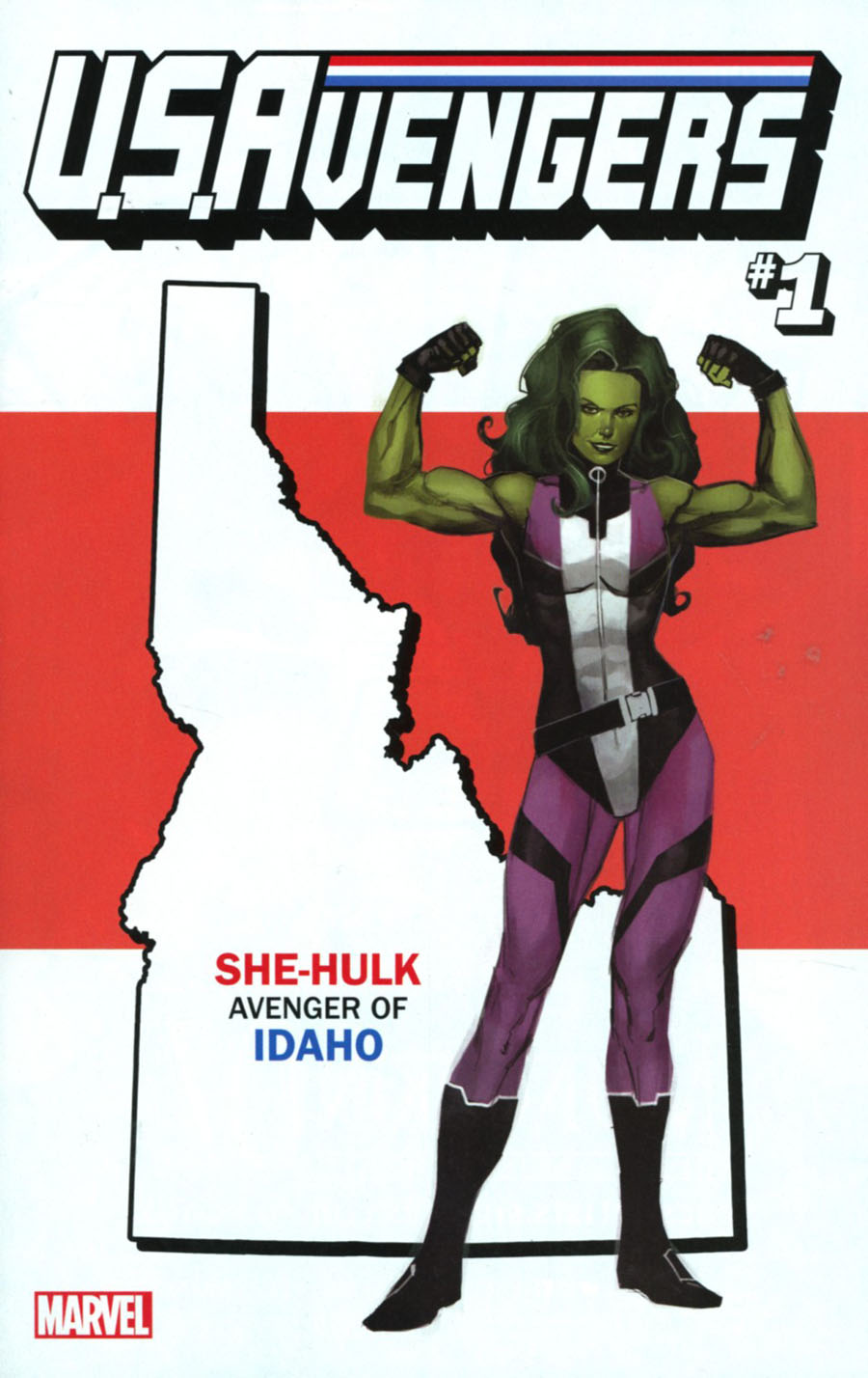 U.S.Avengers #1 Cover S Variant Rod Reis Idaho State Cover (Marvel Now Tie-In)
