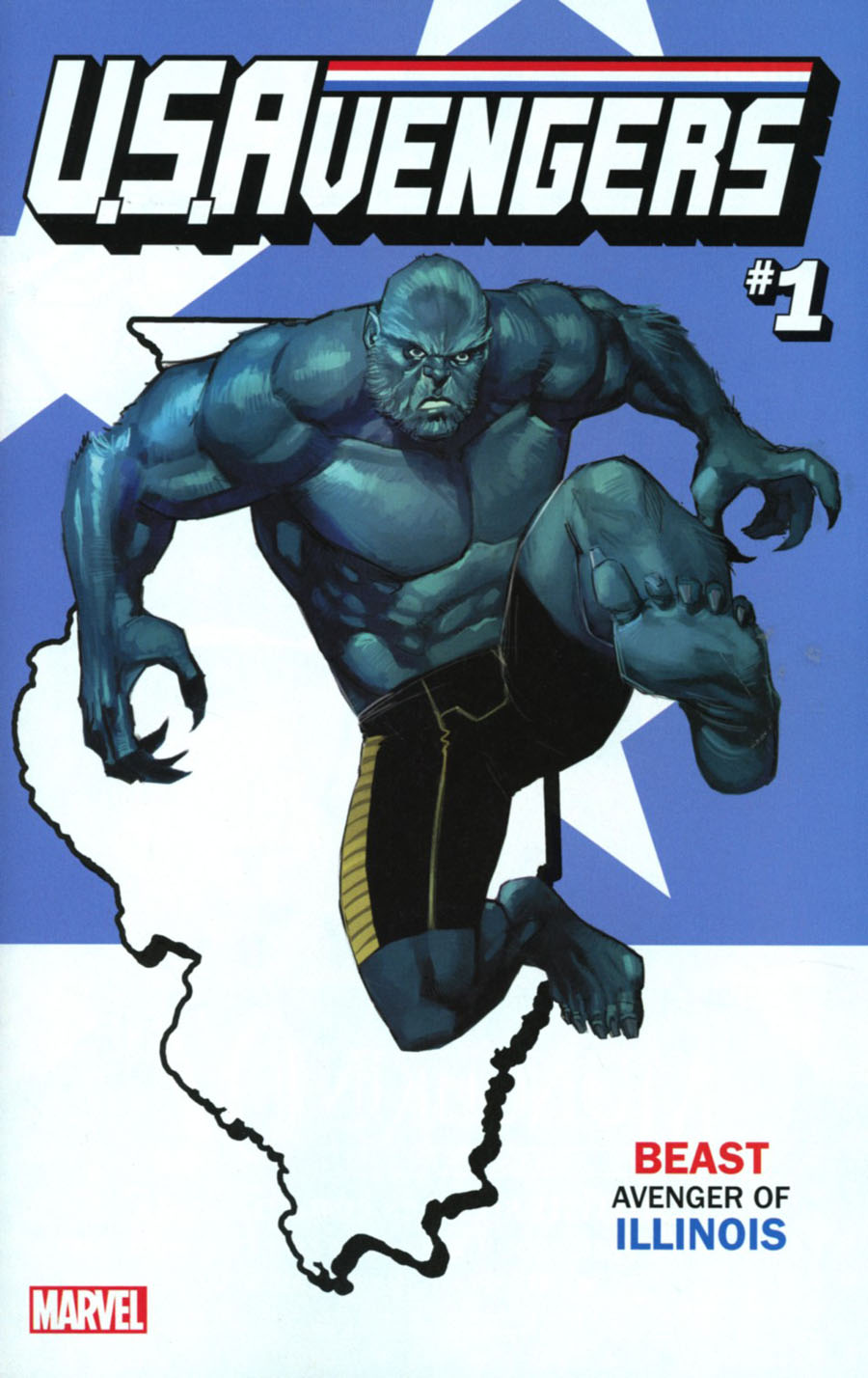U.S.Avengers #1 Cover T Variant Rod Reis Illinois State Cover (Marvel Now Tie-In)