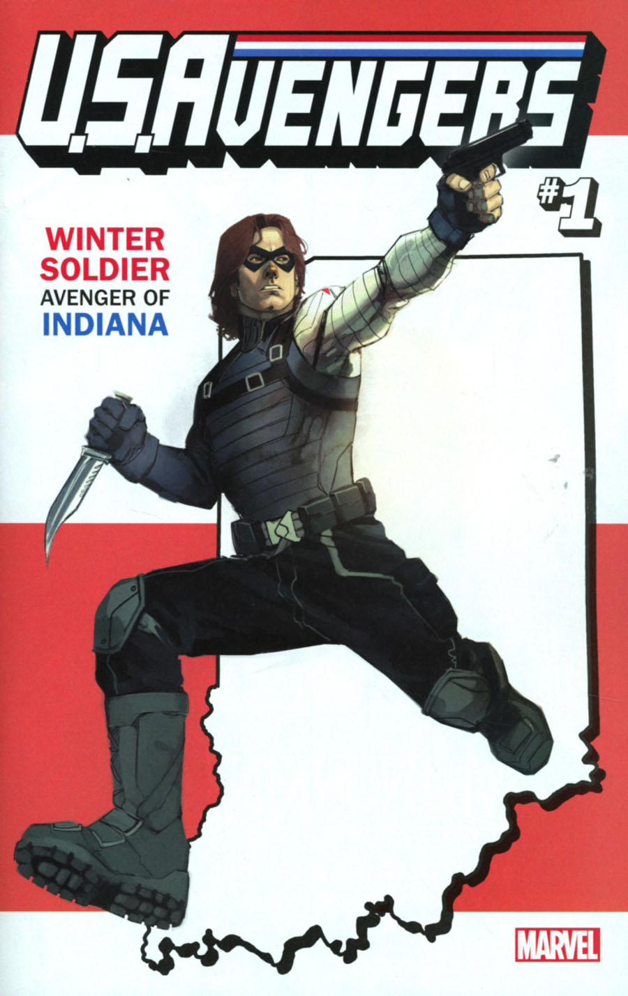 U.S.Avengers #1 Cover U Variant Rod Reis Indiana State Cover (Marvel Now Tie-In)