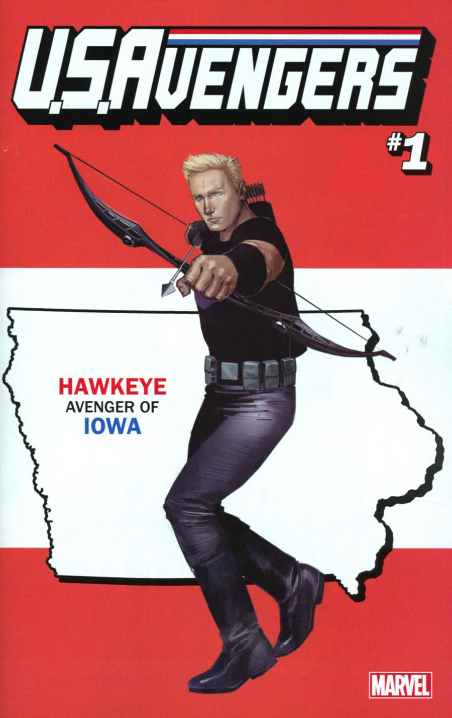 U.S.Avengers #1 Cover V Variant Rod Reis Iowa State Cover (Marvel Now Tie-In)