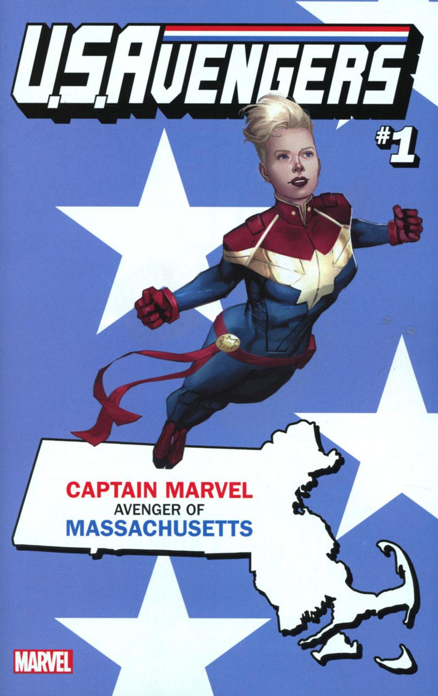 U.S.Avengers #1 Cover Z-B Variant Rod Reis Massachusetts State Cover (Marvel Now Tie-In)