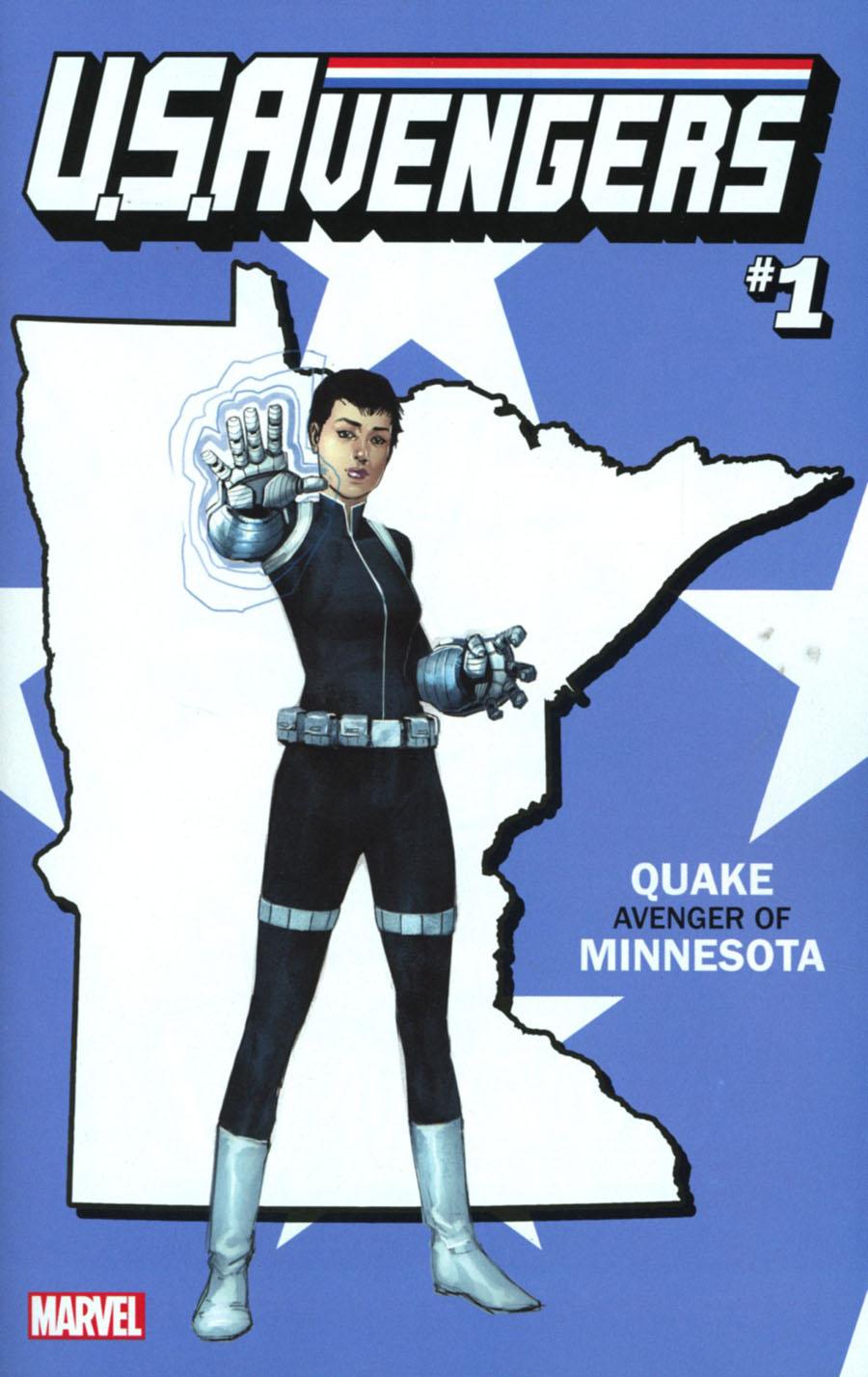 U.S.Avengers #1 Cover Z-D Variant Rod Reis Minnesota State Cover (Marvel Now Tie-In)