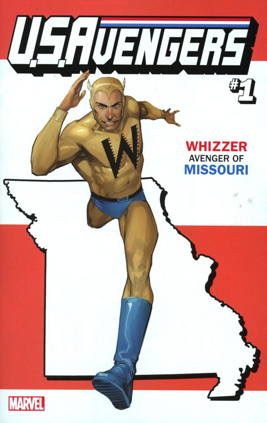 U.S.Avengers #1 Cover Z-F Variant Rod Reis Missouri State Cover (Marvel Now Tie-In)