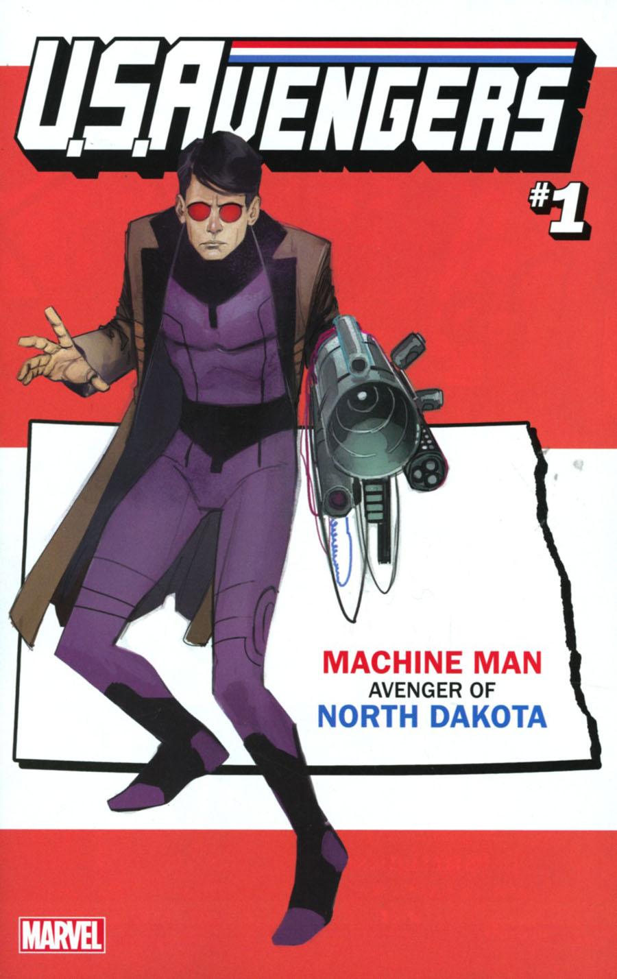 U.S.Avengers #1 Cover Z-O Variant Rod Reis North Dakota State Cover (Marvel Now Tie-In)