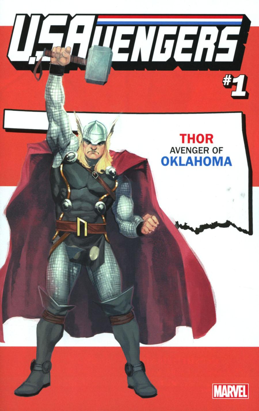U.S.Avengers #1 Cover Z-Q Variant Rod Reis Oklahoma State Cover (Marvel Now Tie-In)