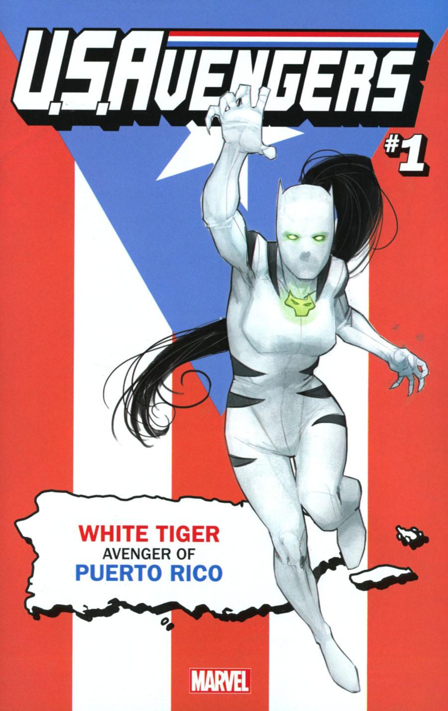 U.S.Avengers #1 Cover Z-T Variant Rod Reis Puerto Rico Cover (Marvel Now Tie-In)