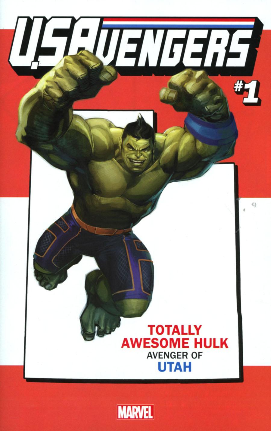 U.S.Avengers #1 Cover Z-Z Variant Rod Reis Utah State Cover (Marvel Now Tie-In)