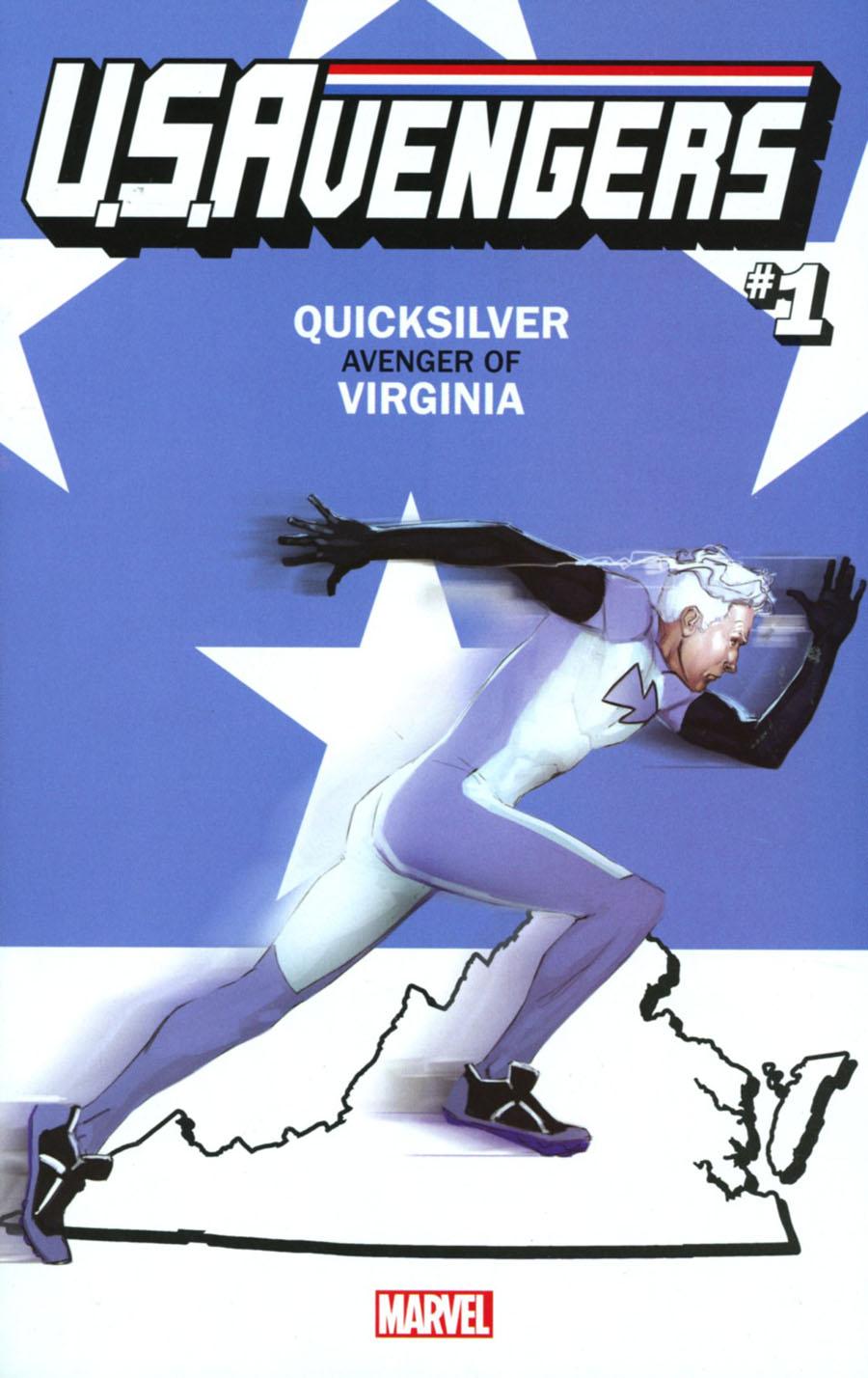 U.S.Avengers #1 Cover Z-Z-B Variant Rod Reis Virginia State Cover (Marvel Now Tie-In)