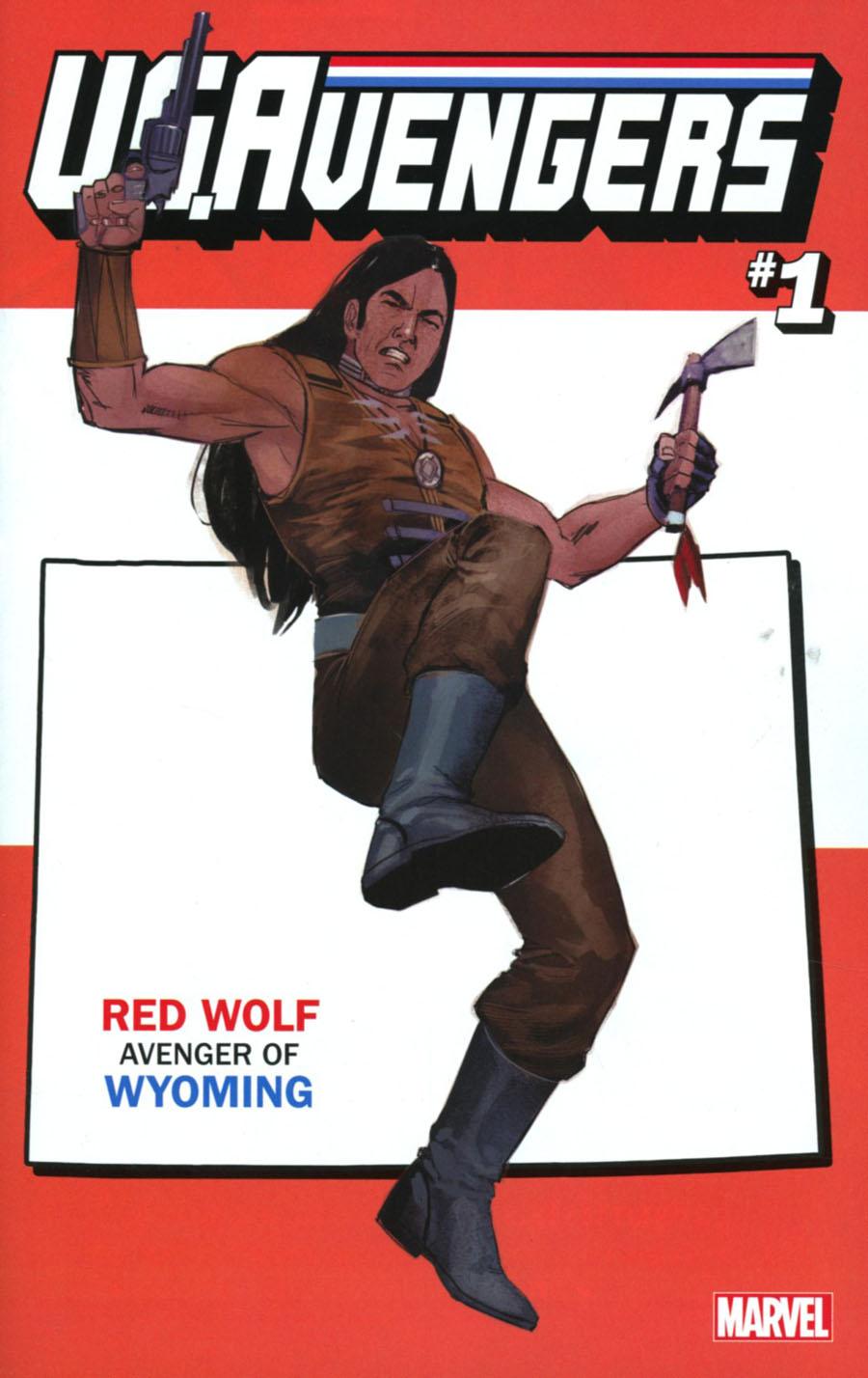 U.S.Avengers #1 Cover Z-Z-G Variant Rod Reis Wyoming State Cover (Marvel Now Tie-In)