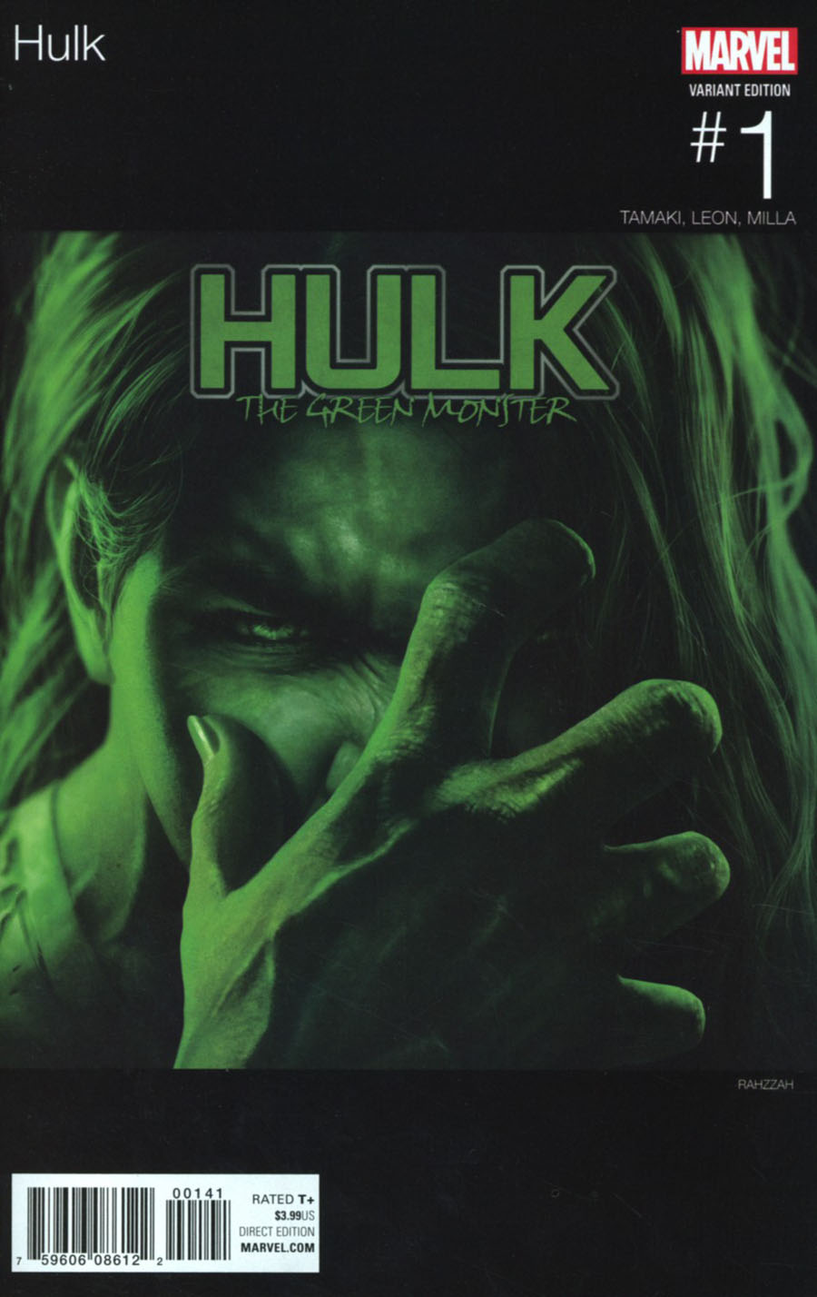 Hulk Vol 4 #1 Cover C Variant Rahzzah Marvel Hip-Hop Cover (Marvel Now Tie-In)