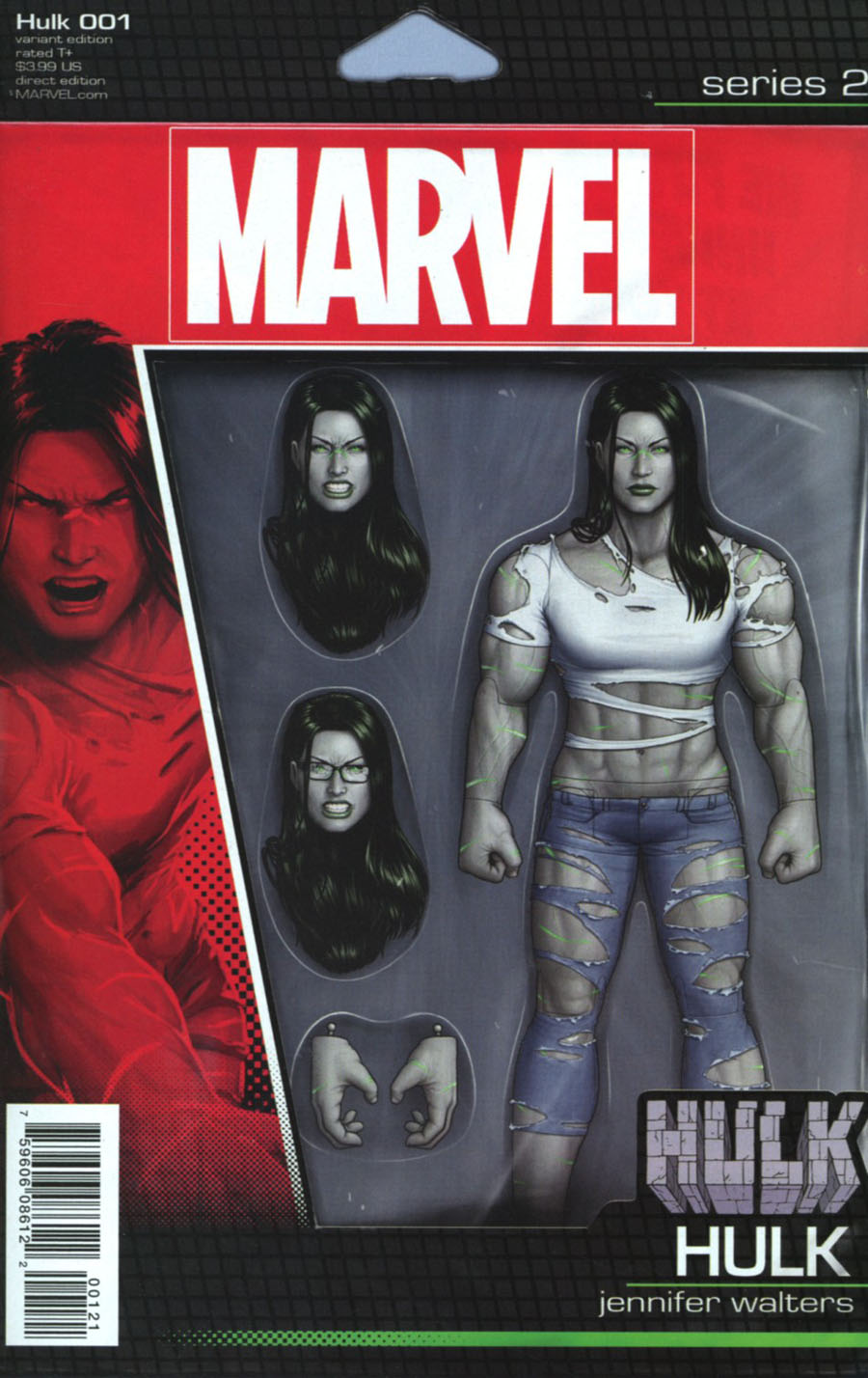 Hulk Vol 4 #1 Cover B Variant John Tyler Christopher Action Figure Cover (Marvel Now Tie-In)