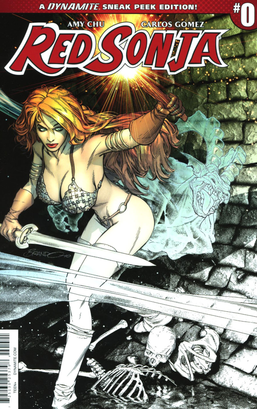Red Sonja Vol 7 #0 Cover B Incentive Brandon Peterson Sneak Peek Variant Cover
