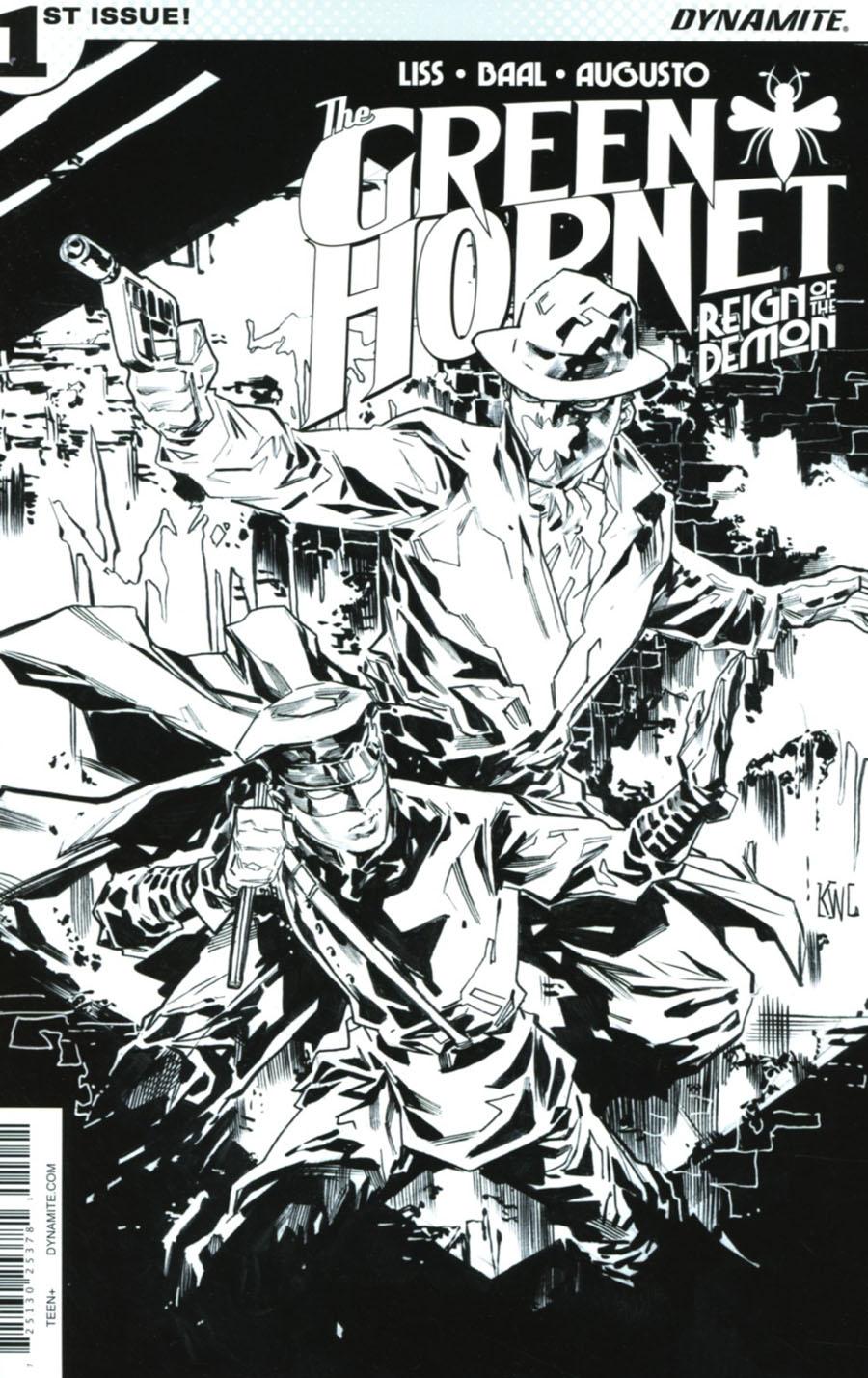 Green Hornet Reign Of The Demon #1 Cover D Incentive Ken Lashley Black & White Cover