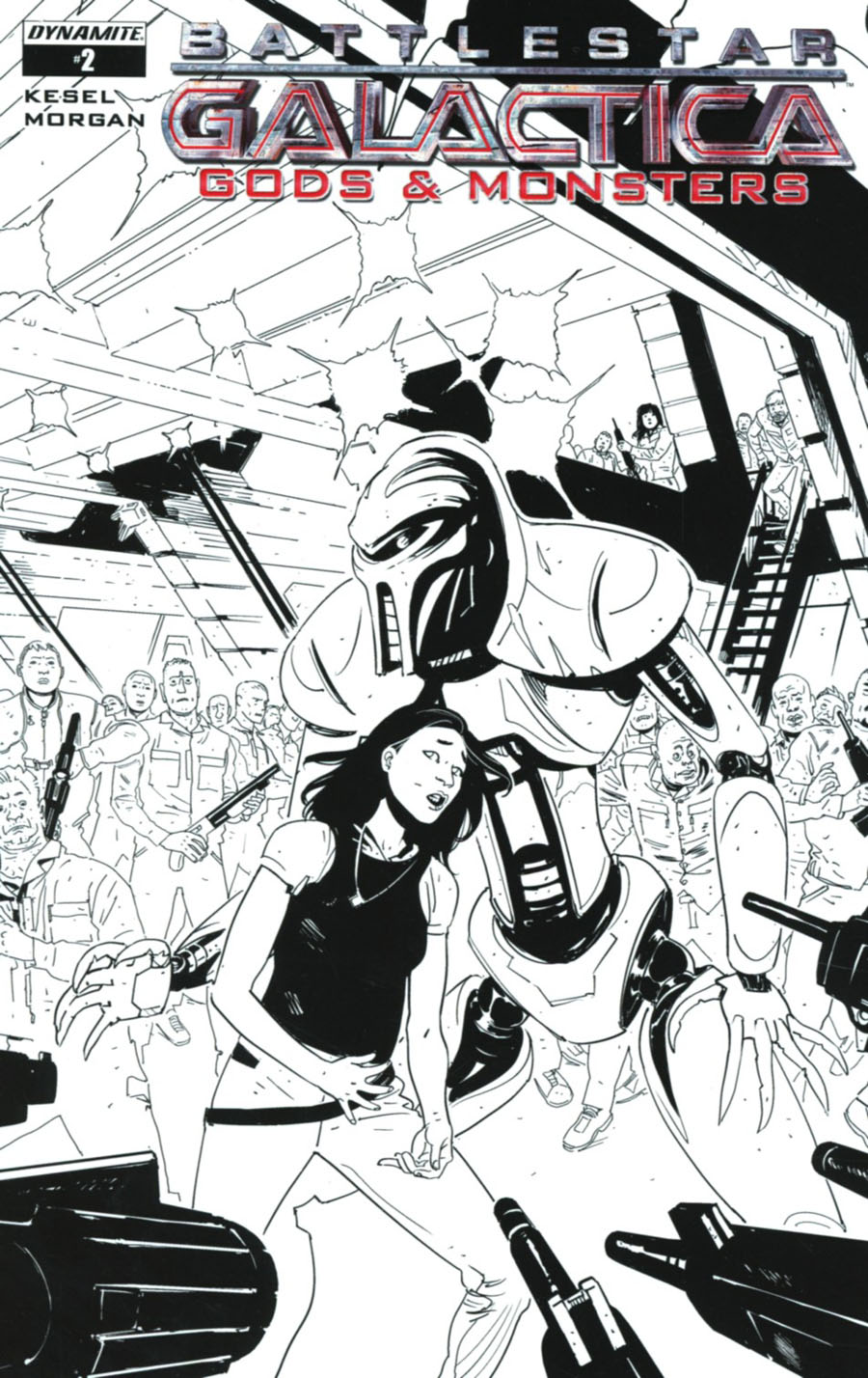 Battlestar Galactica Gods & Monsters #2 Cover C Incentive Alec Morgan Black & White Cover