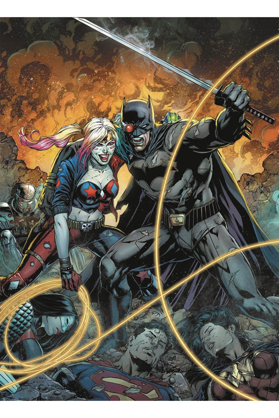 Justice League vs Suicide Squad #1 Cover E DF Gold Elite Signature Series Signed By Joshua Williamson