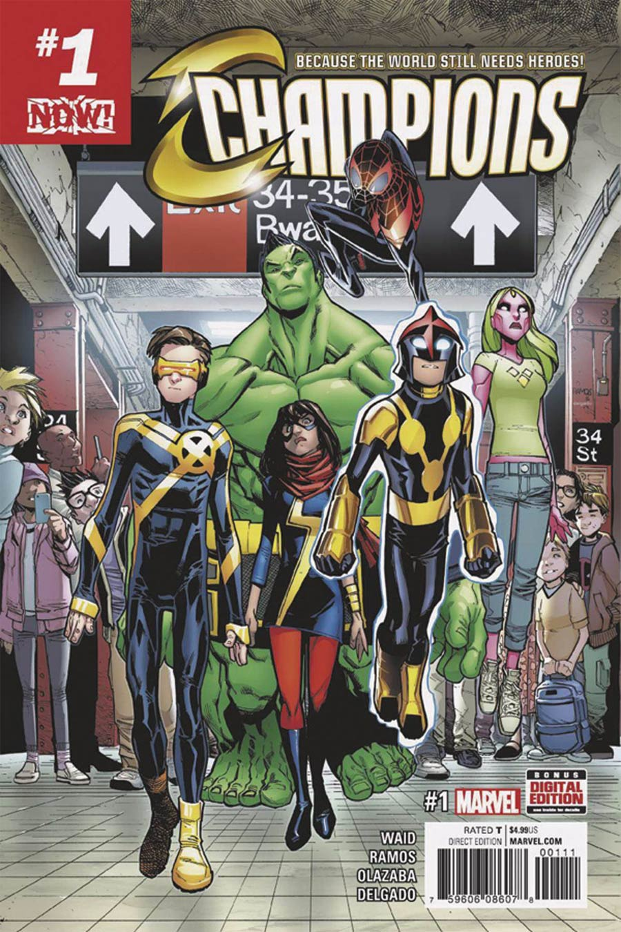 Champions (Marvel) Vol 2 #1 Cover S DF Exclusive John Cassaday Color Variant Cover Signed By John Cassaday