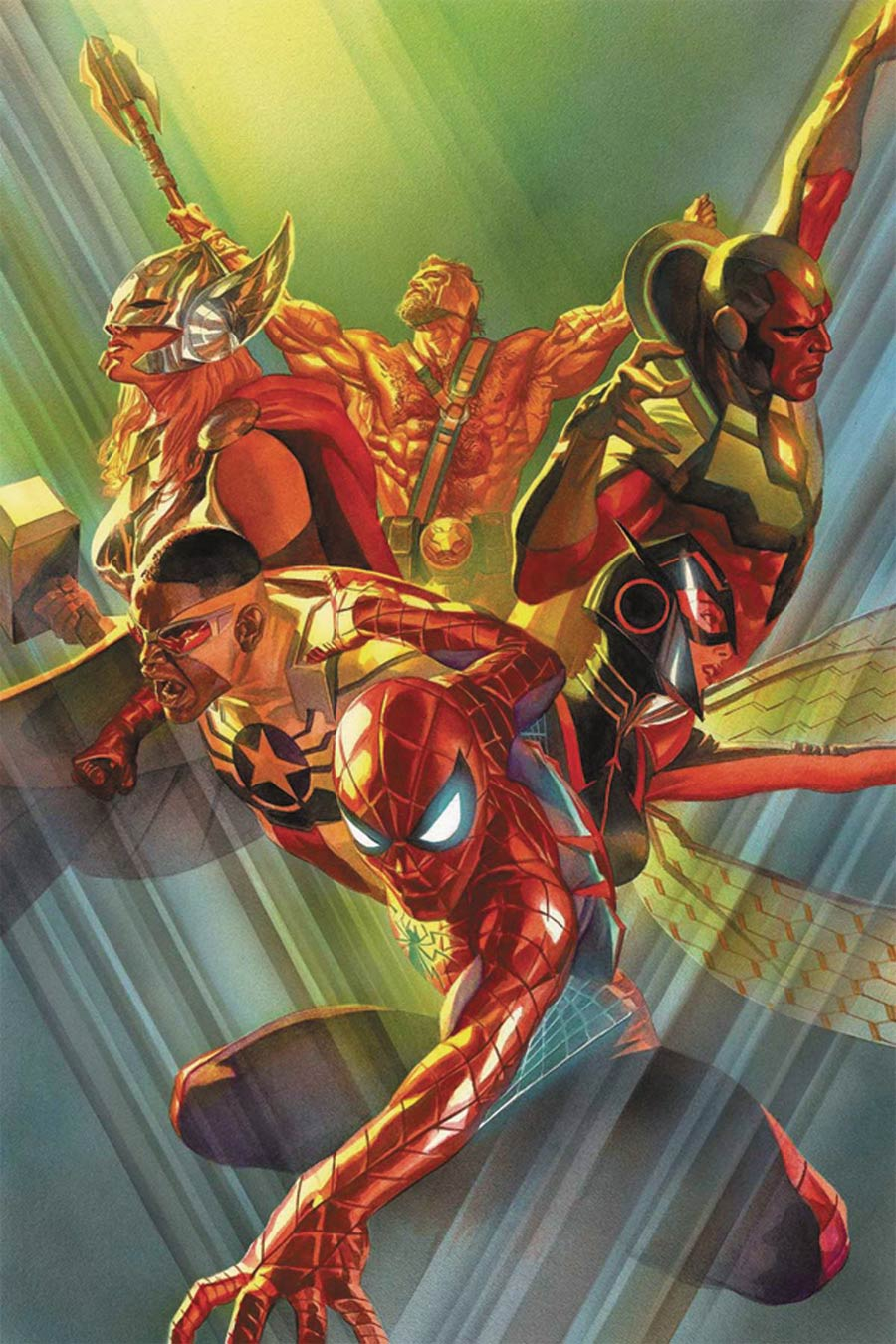Avengers Vol 6 #1 Cover L DF Signed By Mark Waid (Marvel Now Tie-In)