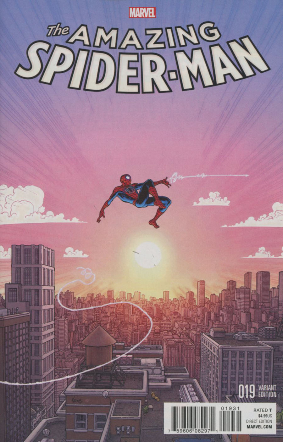 Amazing Spider-Man Vol 4 #19 Cover B Incentive Aaron Kuder Variant Cover (Dead No More Prelude)