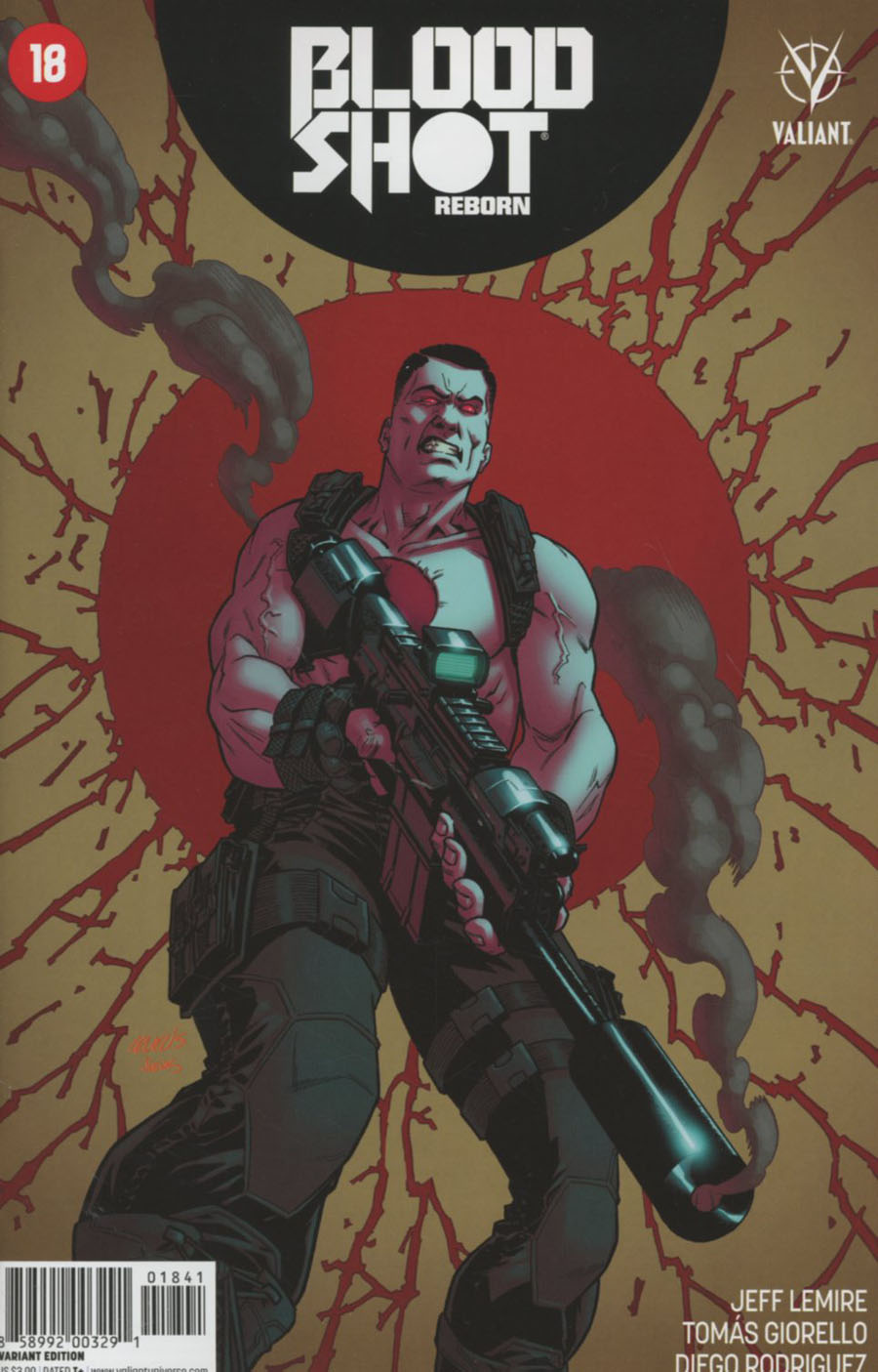 Bloodshot Reborn #18 Cover D Incentive Brian Level Variant Cover