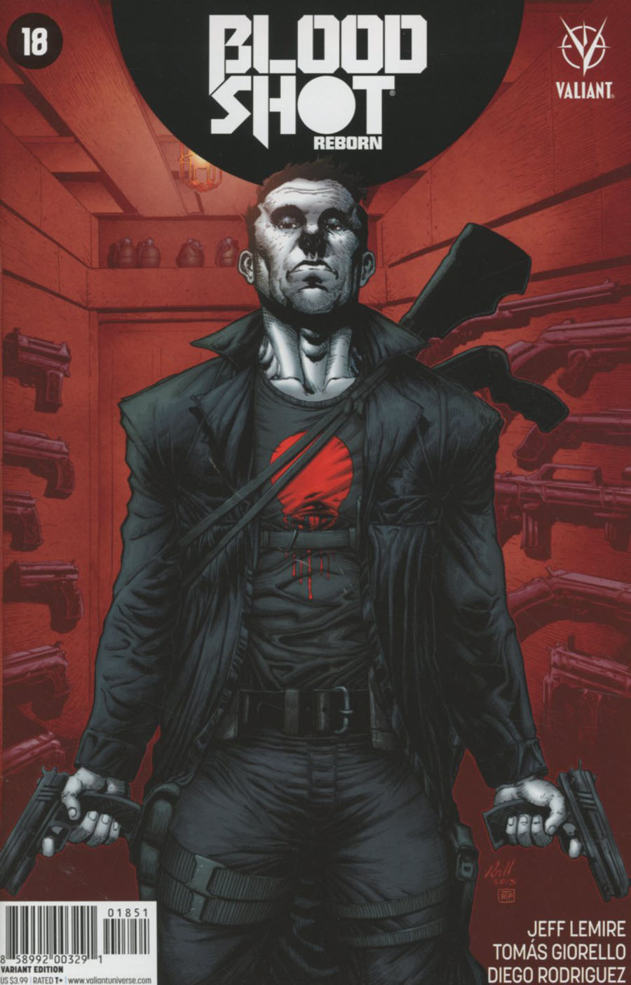 Bloodshot Reborn #18 Cover E Incentive Robert Gill Variant Cover