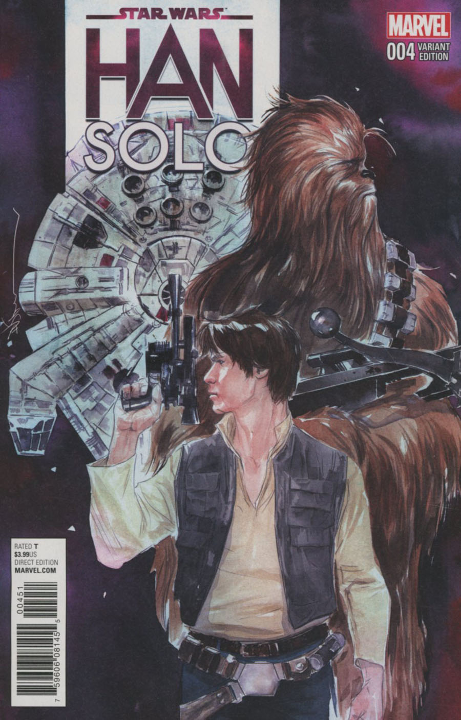 Star Wars Han Solo #4 Cover E Incentive Dustin Nguyen Variant Cover