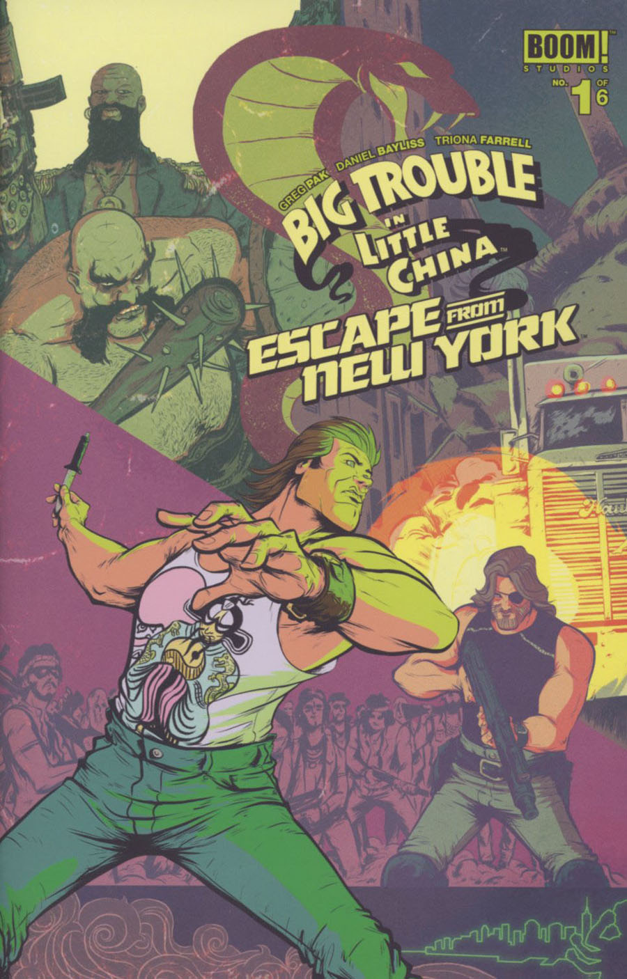 Big Trouble In Little China Escape From New York #1 Cover A Regular Daniel Bayliss Jack Burton Foreground Cover