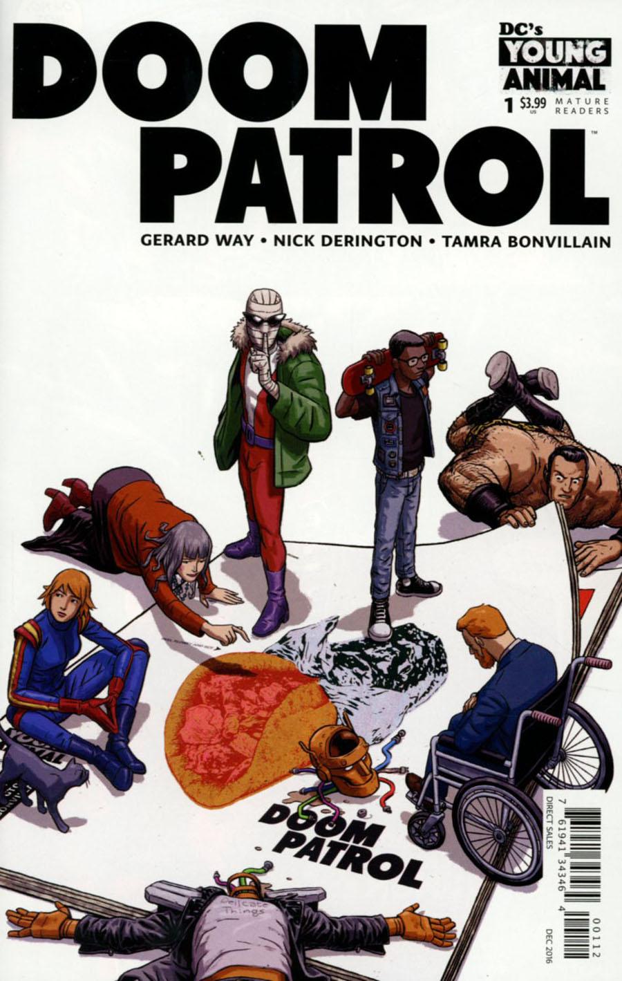 Doom Patrol Vol 6 #1 Cover H 2nd Ptg Nick Derington Variant Cover