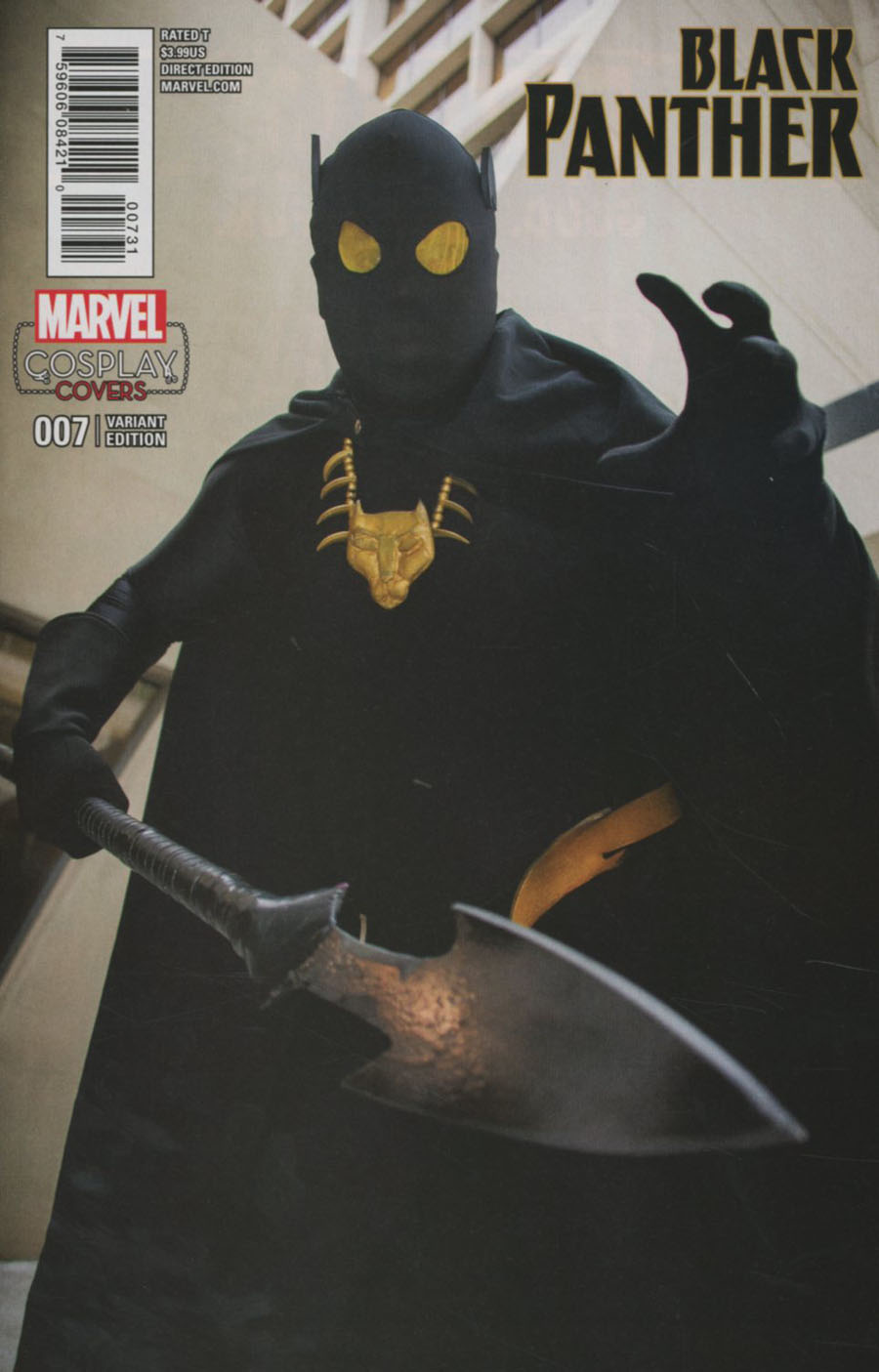 Black Panther Vol 6 #7 Cover F Incentive Cosplay Variant Cover (Marvel Now Tie-In)