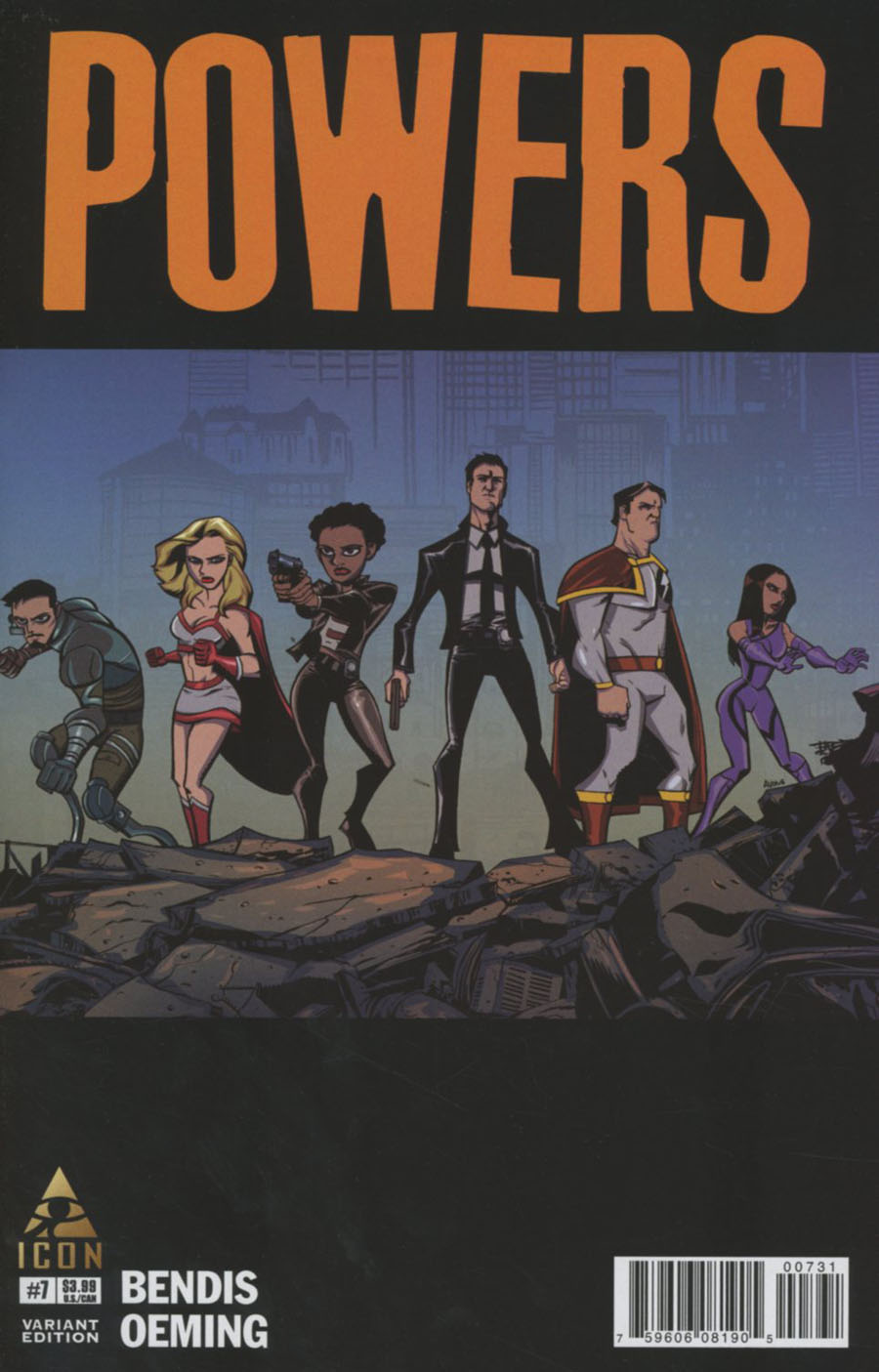 Powers Vol 4 #7 Cover B Incentive Michael Avon Oeming Variant Cover