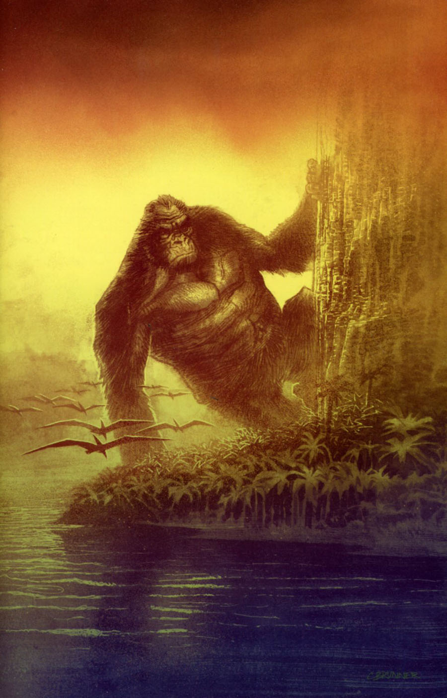 Kong Of Skull Island #4 Cover B Incentive Chris Brunner Virgin Variant Cover