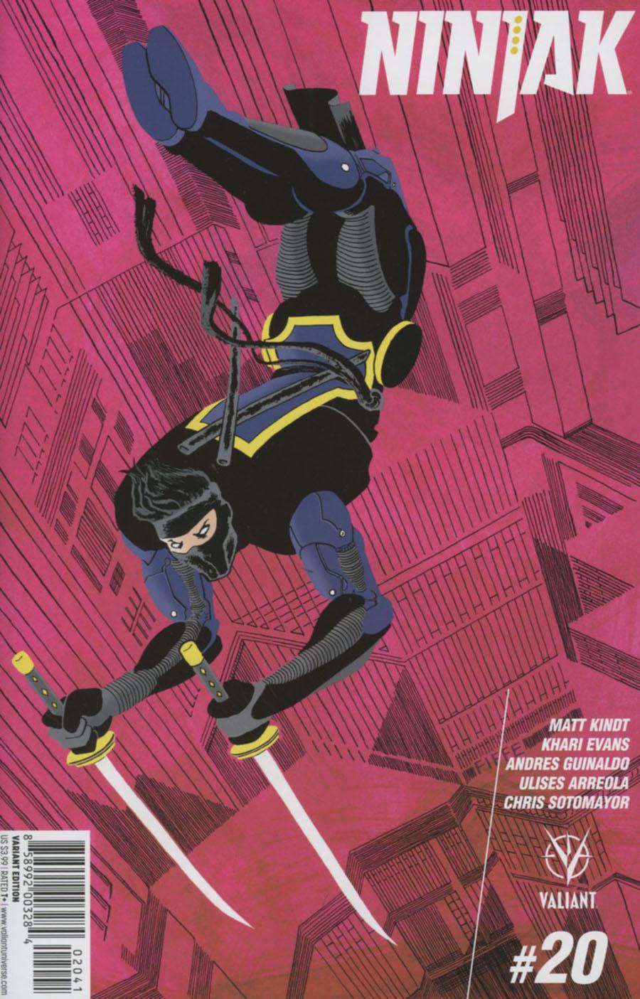 Ninjak Vol 3 #20 Cover D Incentive Michel Fiffe Variant Cover