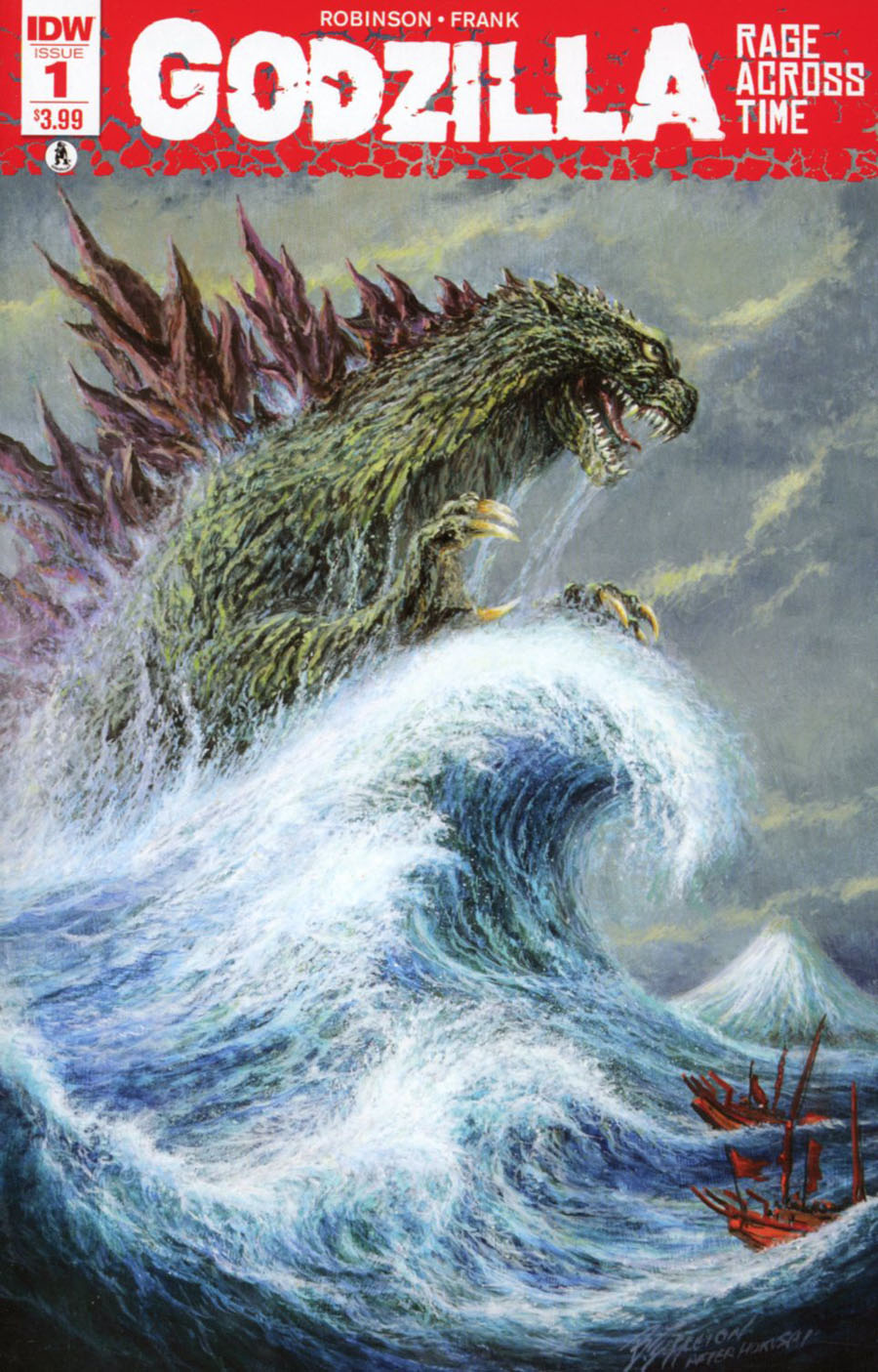 Godzilla Rage Across Time #1 Cover D 2nd Ptg Bob Eggleton Variant Cover