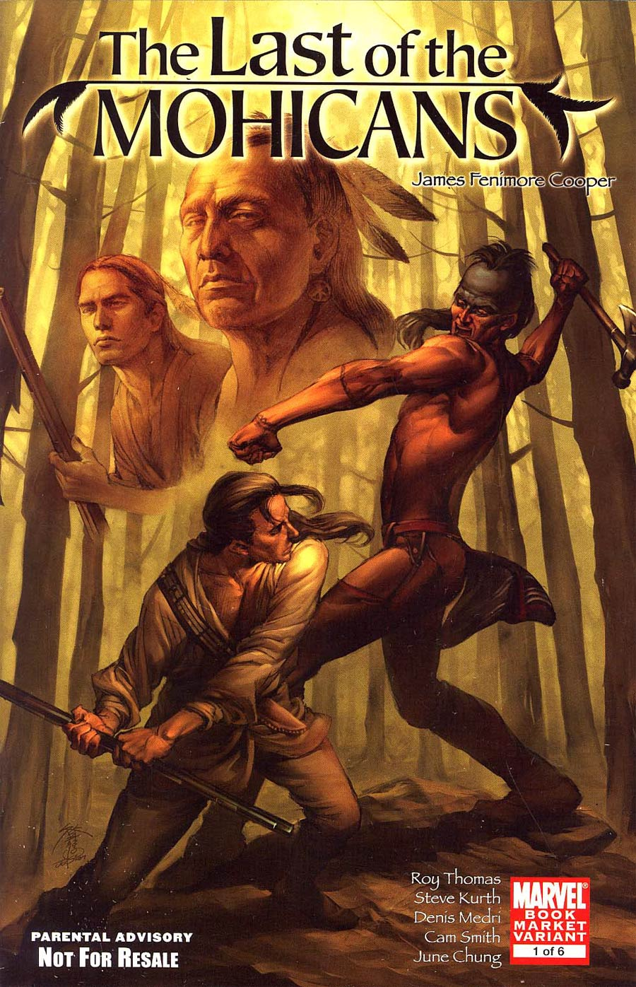 Marvel Illustrated Last Of The Mohicans #1 Cover B Book Market Variant
