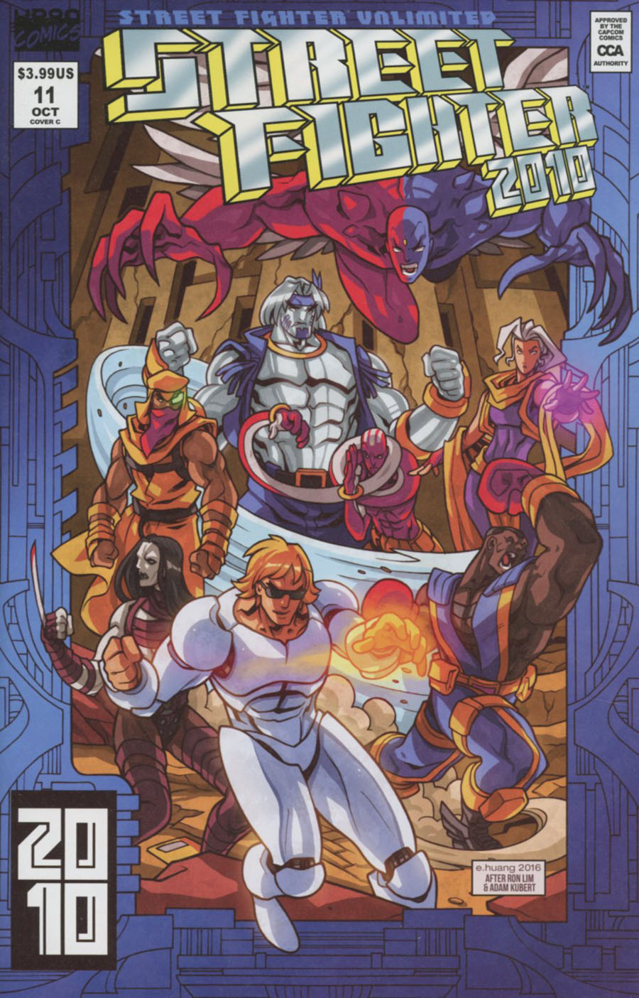 Street Fighter Unlimited #11 Cover C Incentive Edwin Huang Homage Variant Cover
