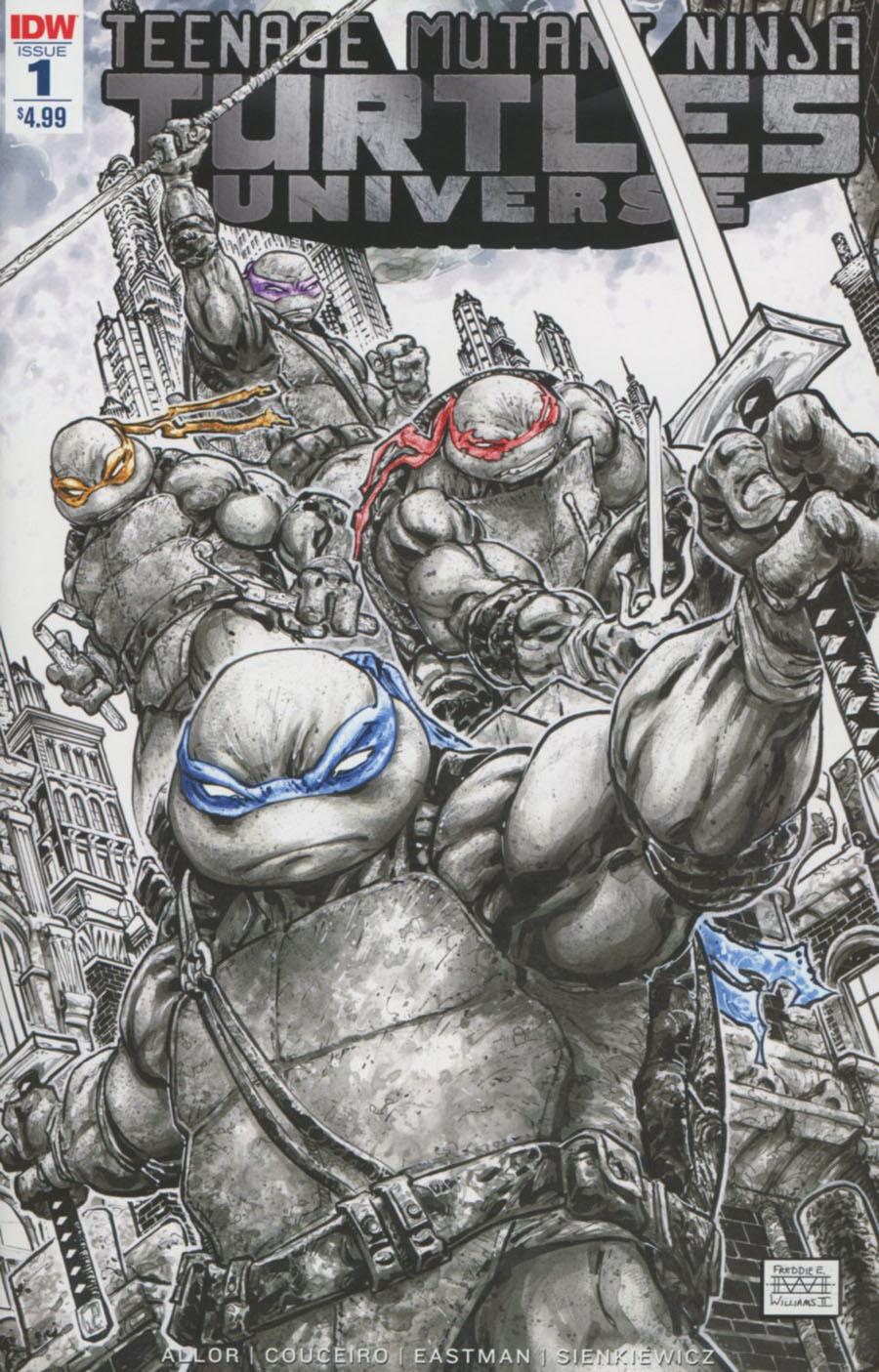 Teenage Mutant Ninja Turtles Universe #1 Cover F 2nd Ptg Freddie Williams Variant Cover
