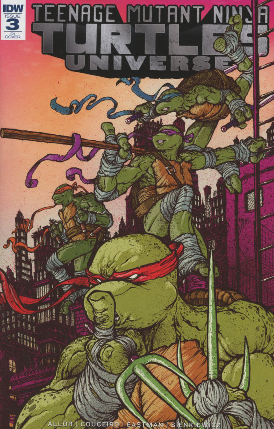 Teenage Mutant Ninja Turtles Universe #3 Cover C Incentive Ryan Lee Variant Cover