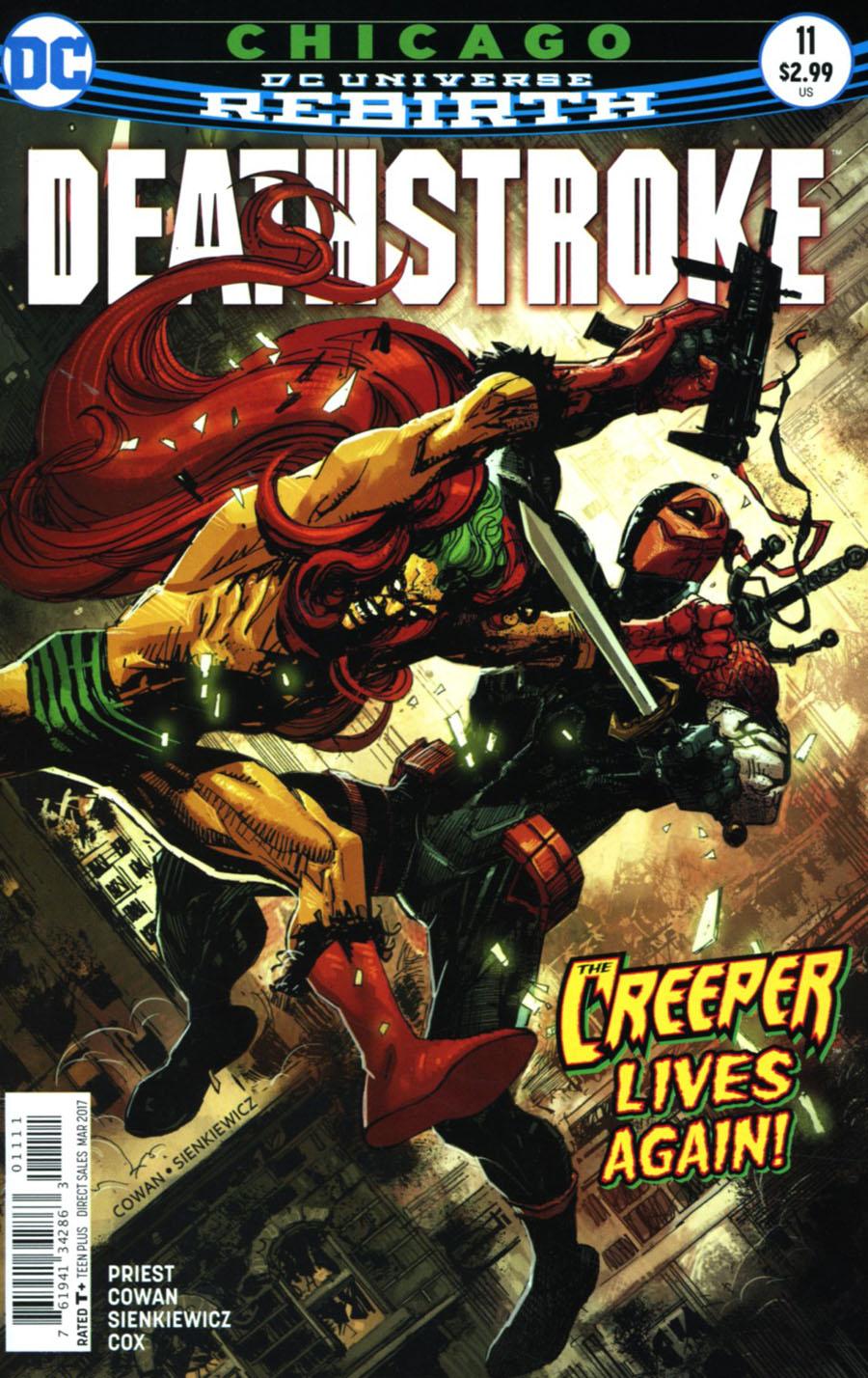 Deathstroke Vol 4 #11 Cover A Regular Denys Cowan & Bill Sienkiewicz Cover