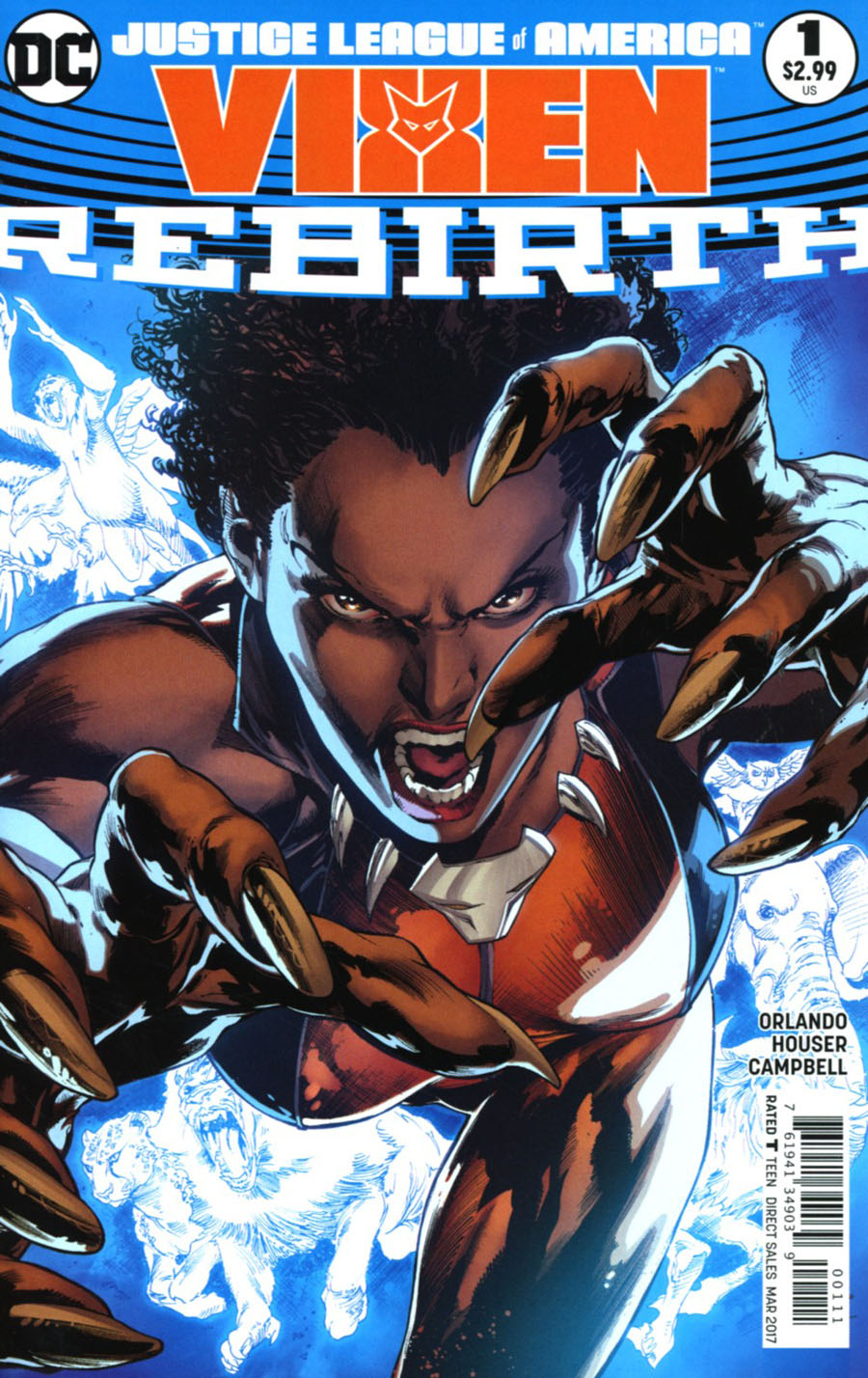Justice League Of America Vixen Rebirth #1 Cover A Regular Ivan Reis & Joe Prado Cover