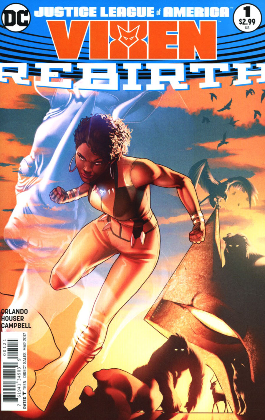 Justice League Of America Vixen Rebirth #1 Cover B Variant Cover