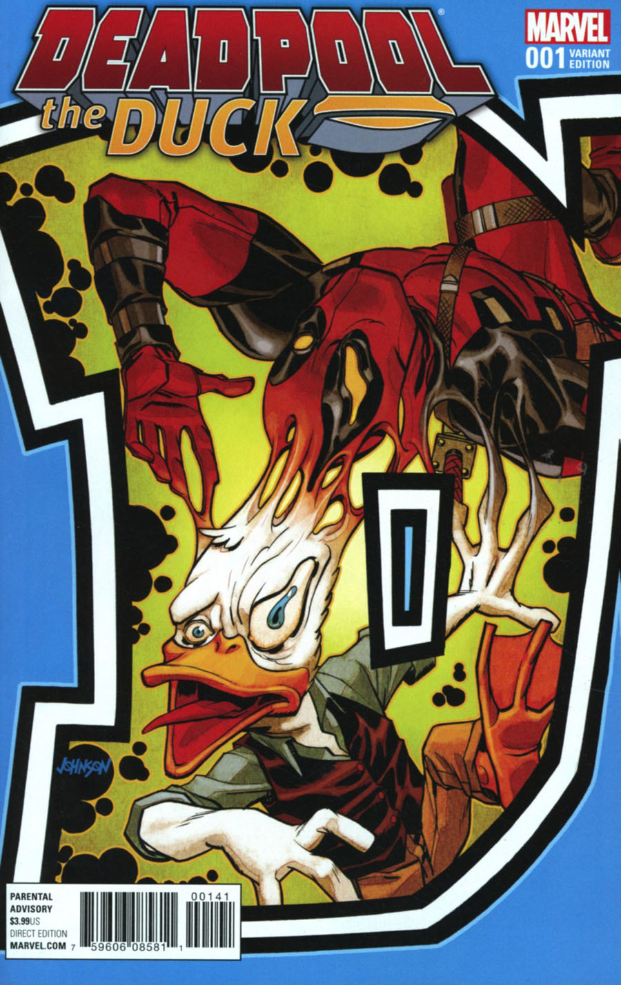 Deadpool The Duck #1 Cover B Variant Dave Johnson Connecting Cover (Marvel Now Tie-In)
