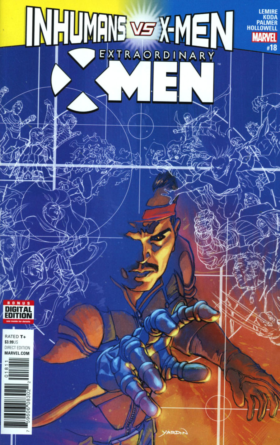 Extraordinary X-Men #18 Cover A Regular David Yardin Cover (Inhumans vs X-Men Tie-In)