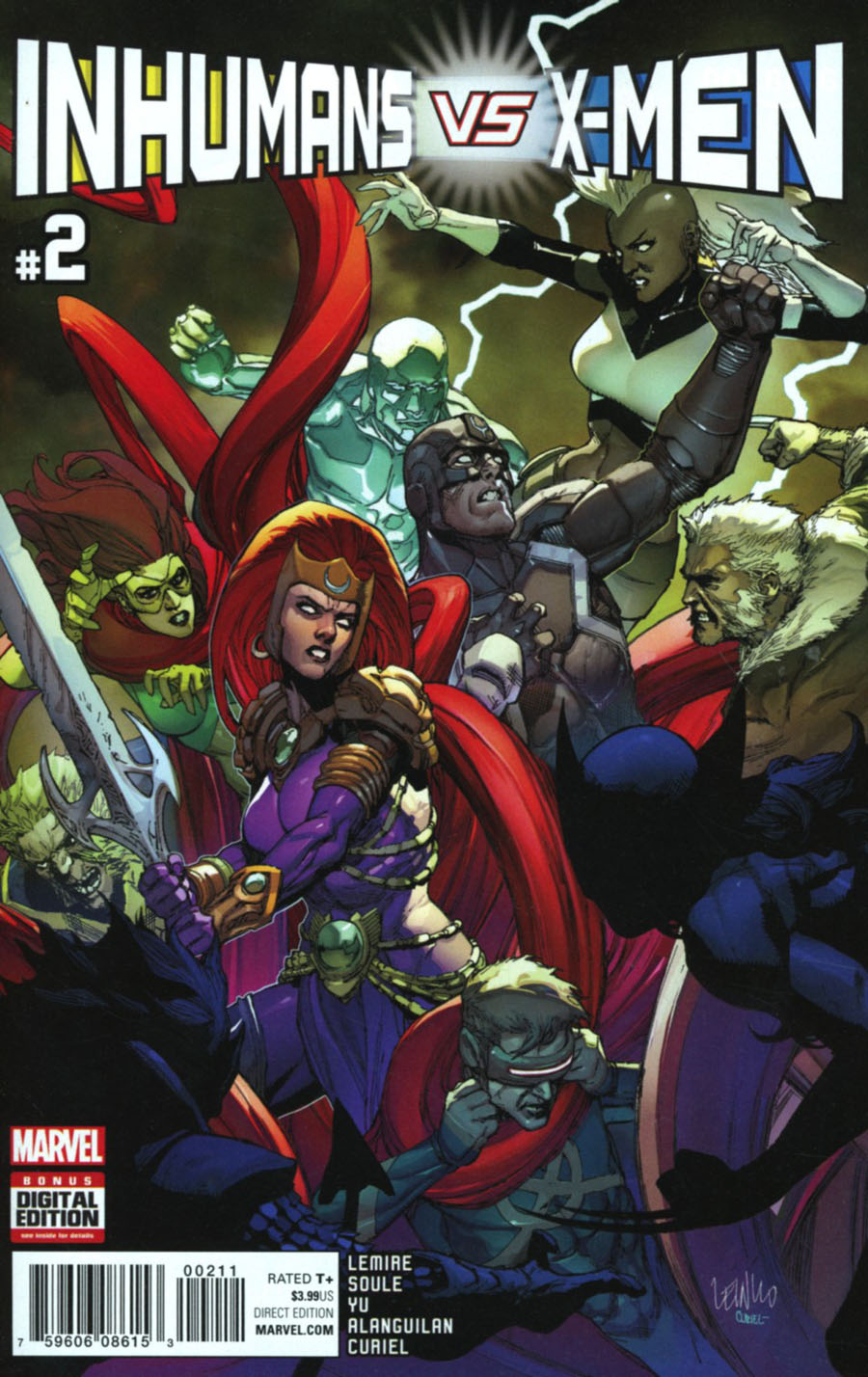 Inhumans vs X-Men #2 Cover A 1st Ptg Regular Leinil Francis Yu Cover