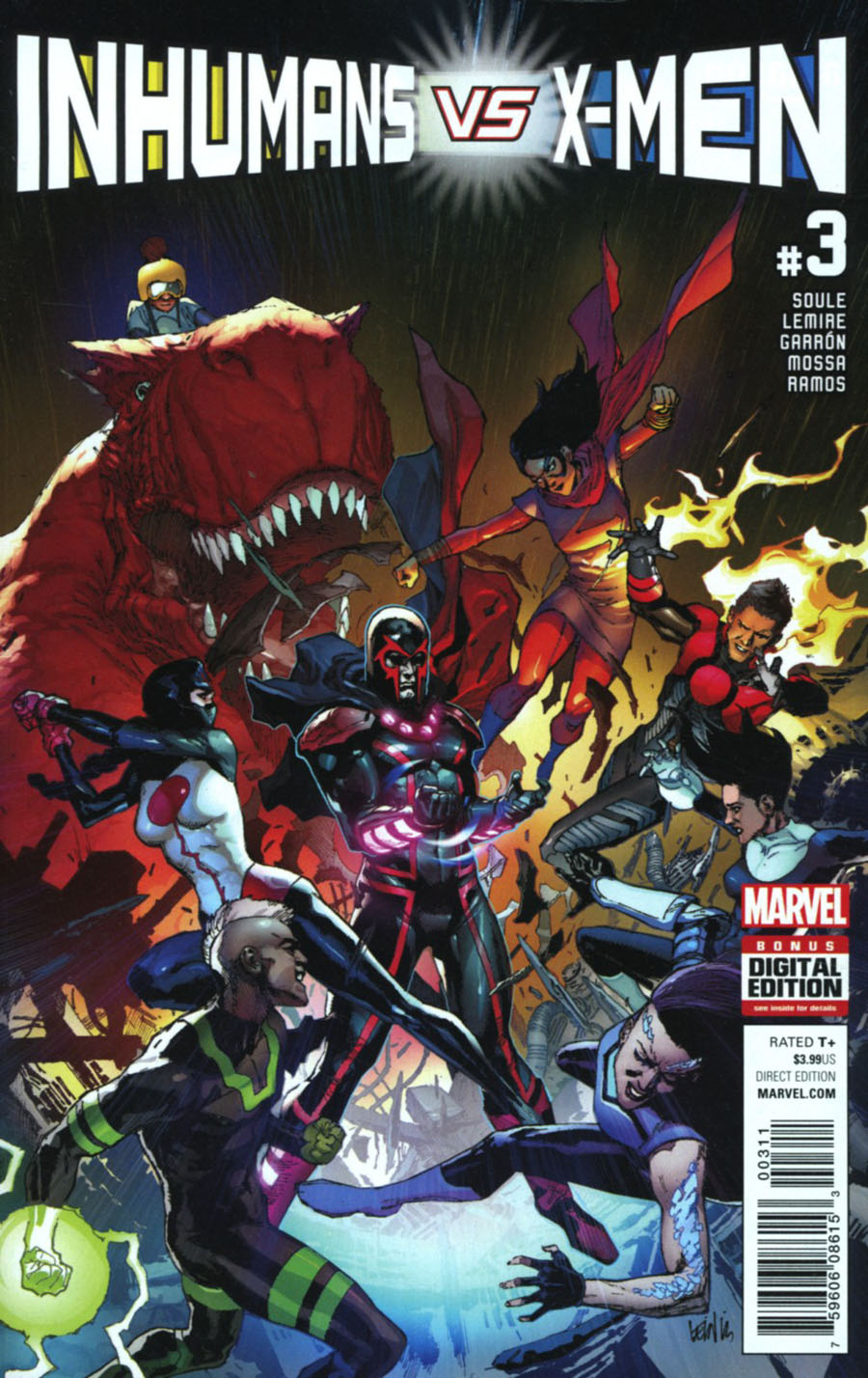 Inhumans vs X-Men #3 Cover A Regular Leinil Francis Yu Cover