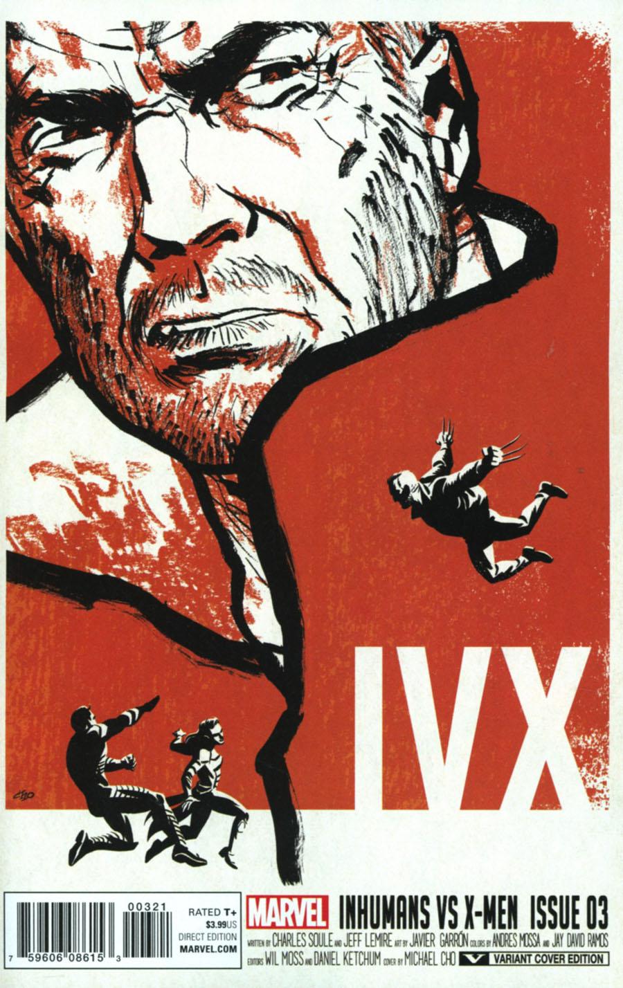 Inhumans vs X-Men #3 Cover B Variant Michael Cho Cover