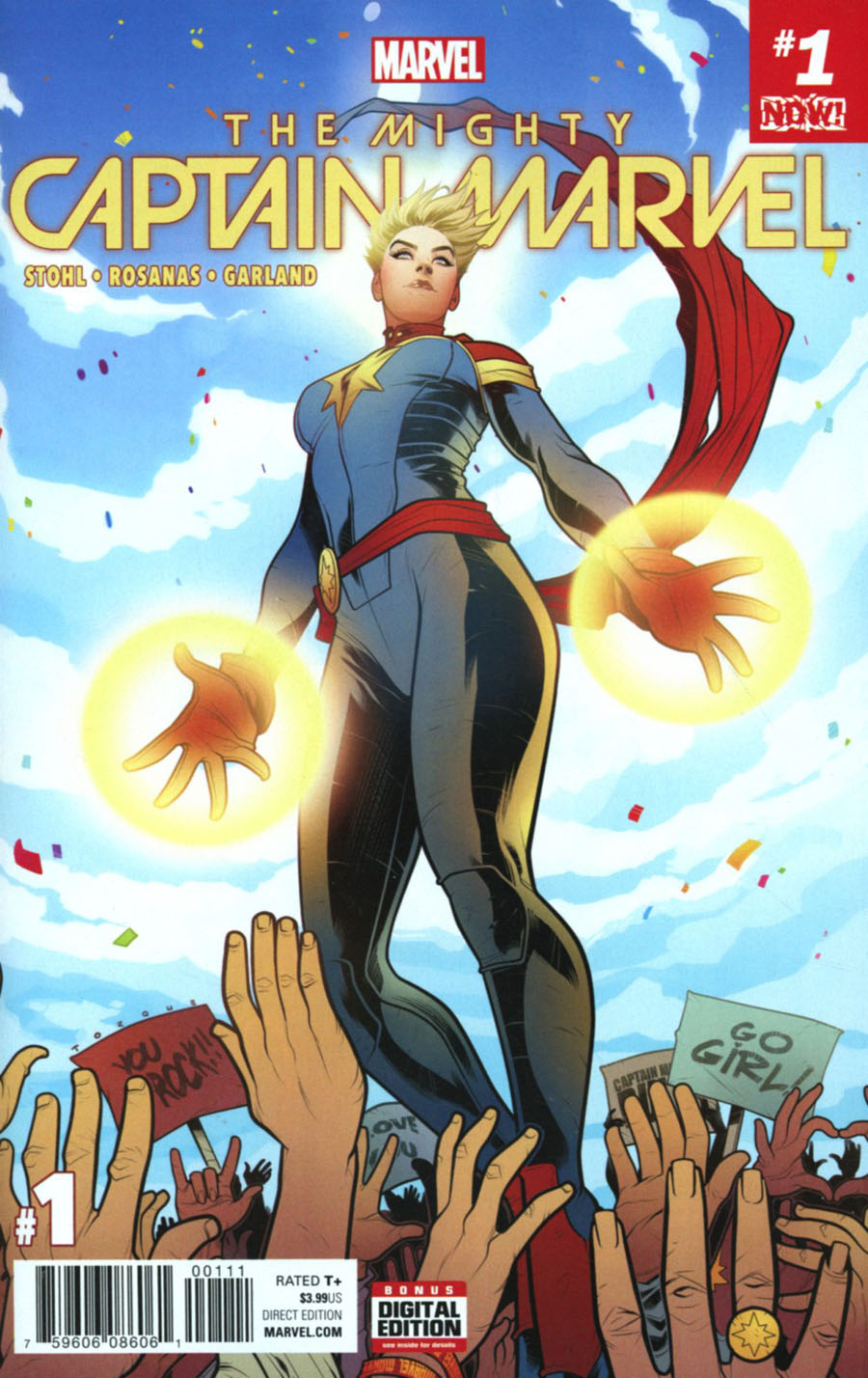 Mighty Captain Marvel #1 Cover A Regular Elizabeth Torque Cover (Marvel Now Tie-In)