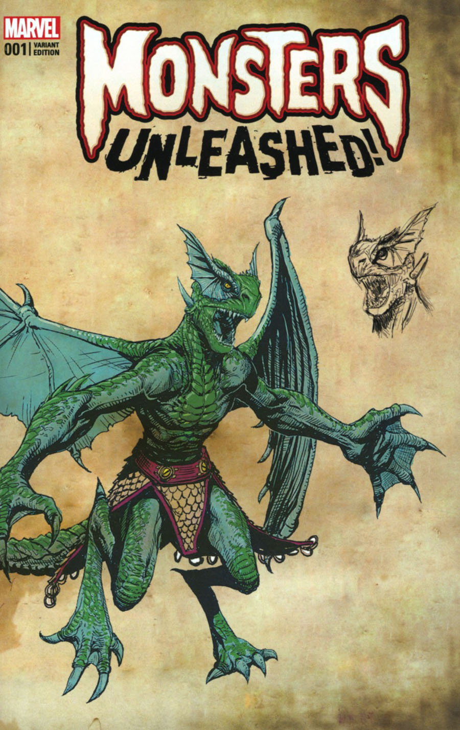 Monsters Unleashed #1 Cover E Variant New Monster Cover